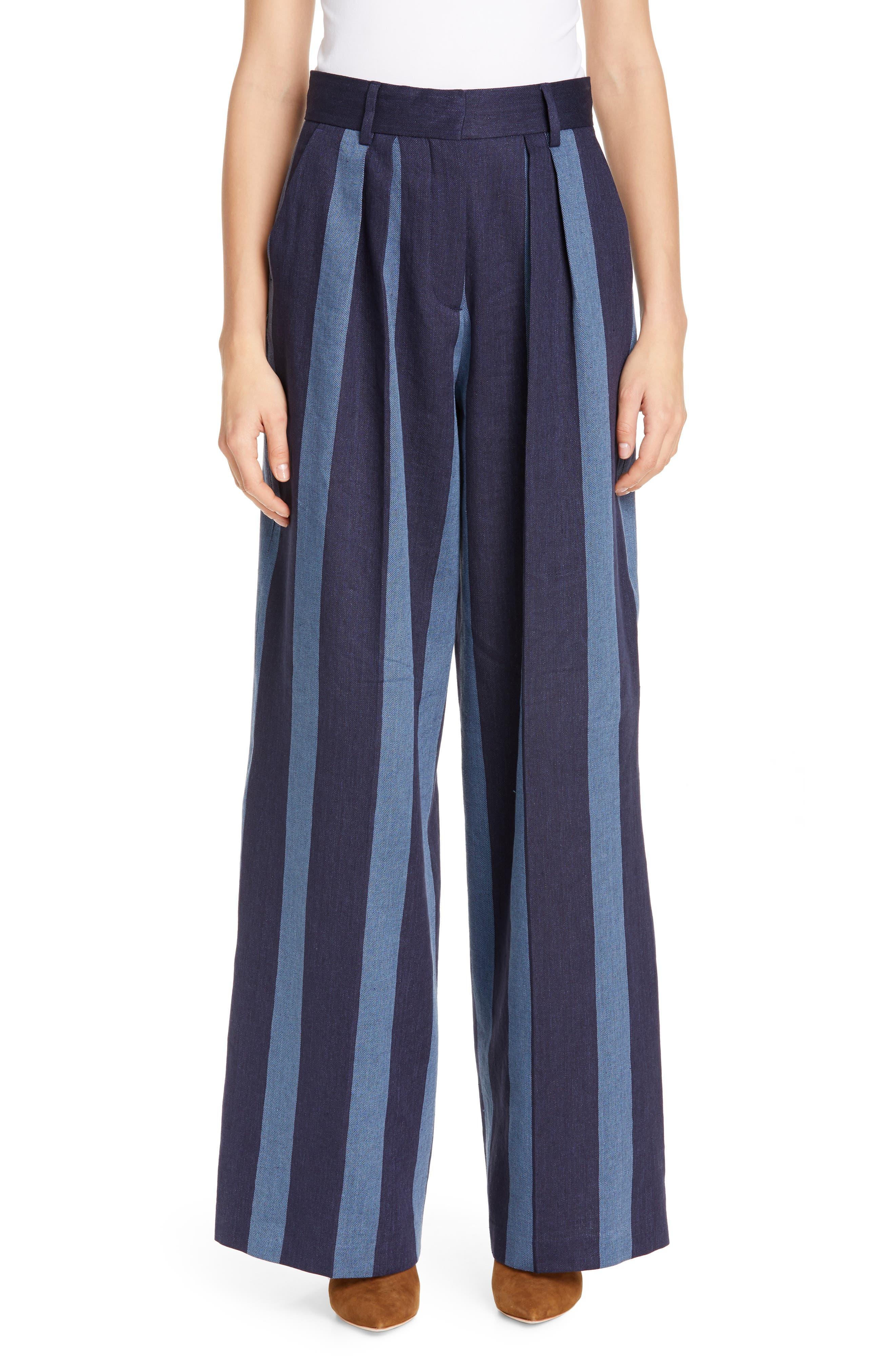 TOMMY X ZENDAYA Stripe Denim Pants, Main, color, STRIPED DENIM