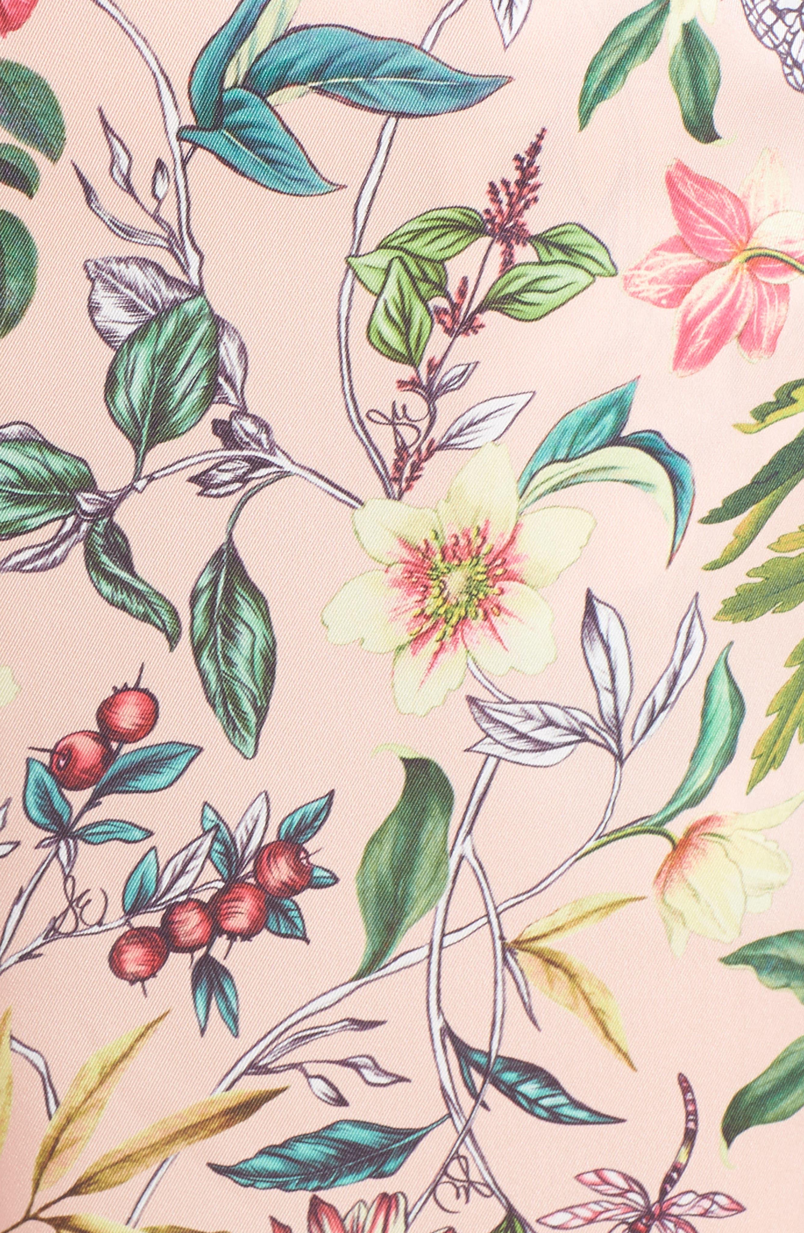 SAM EDELMAN, Floral Wide Leg Jumpsuit, Alternate thumbnail 6, color, PINK MULTI