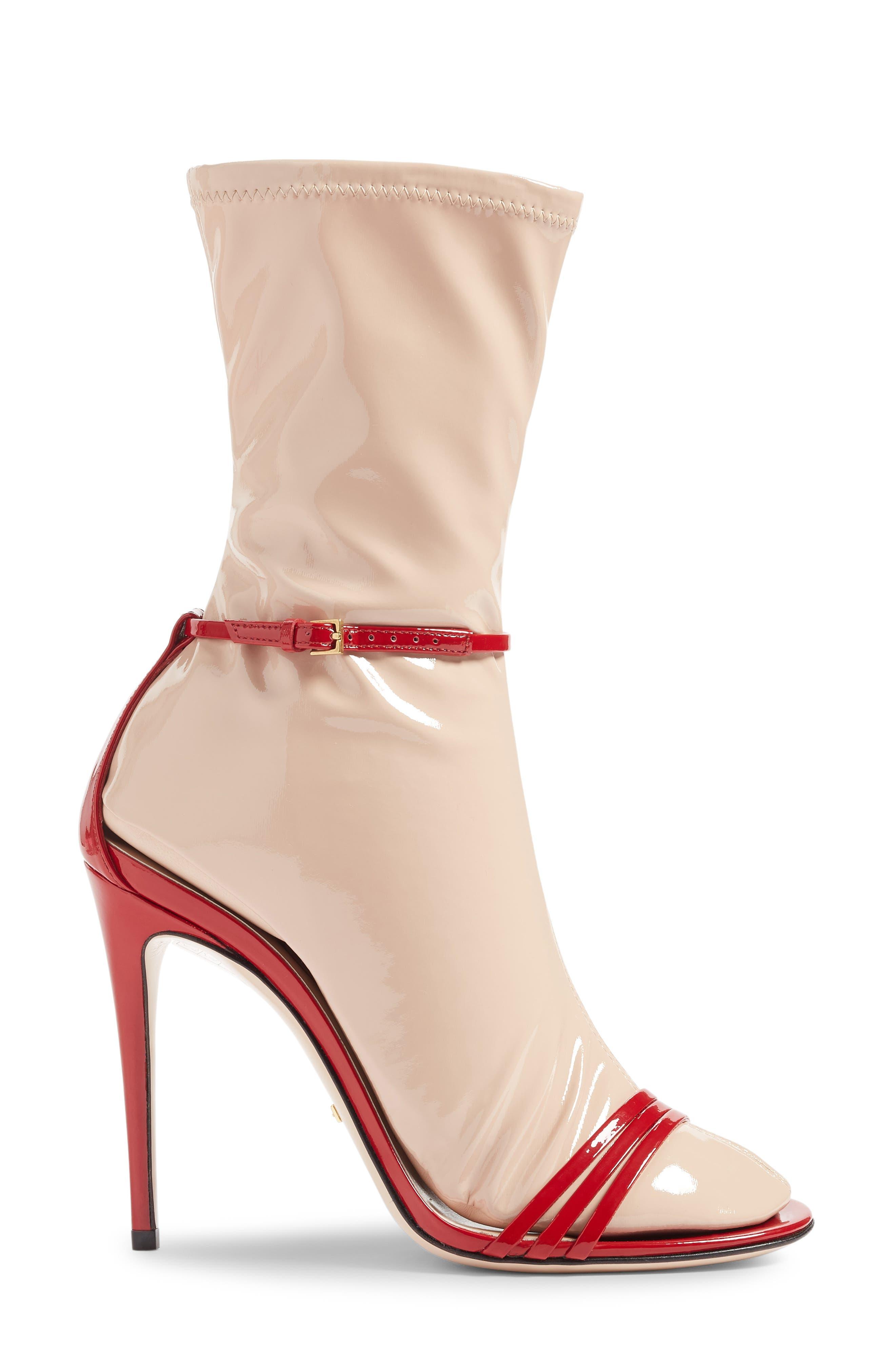 GUCCI, Ilse Sock Sandal, Alternate thumbnail 3, color, 600