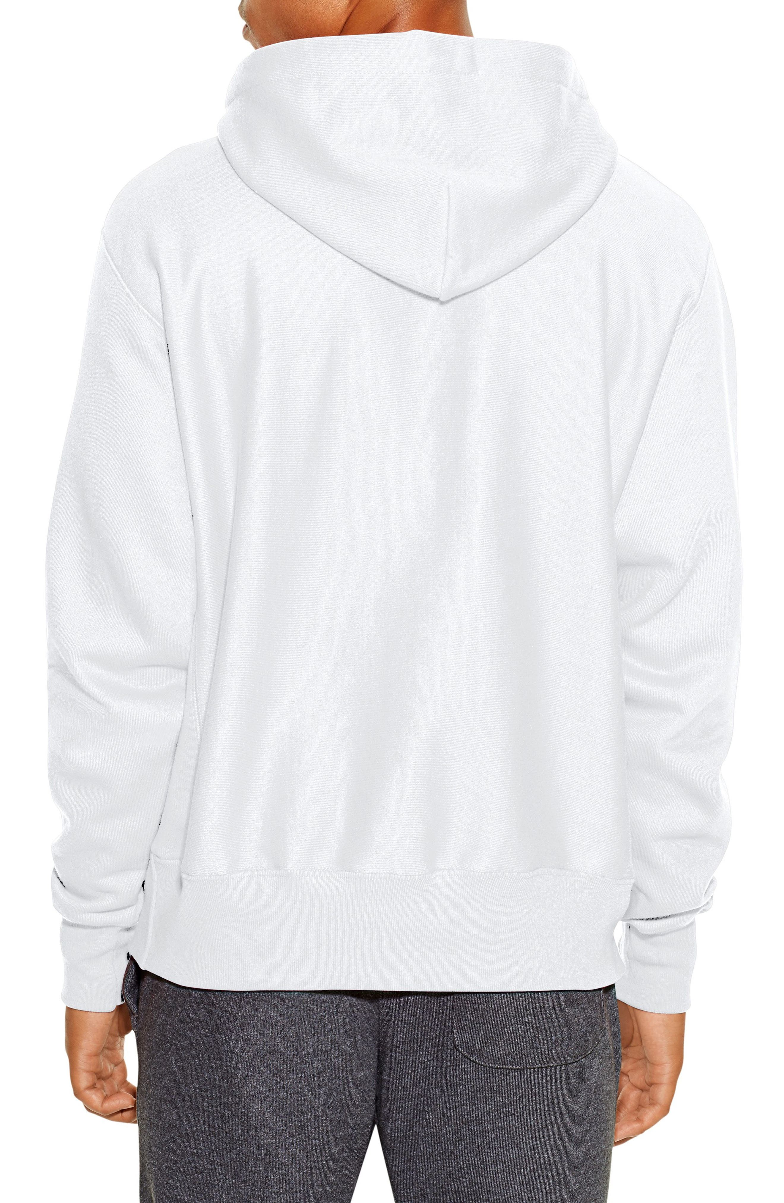 CHAMPION, Reverse Weave<sup>®</sup> Pullover Hoodie, Alternate thumbnail 2, color, WHITE