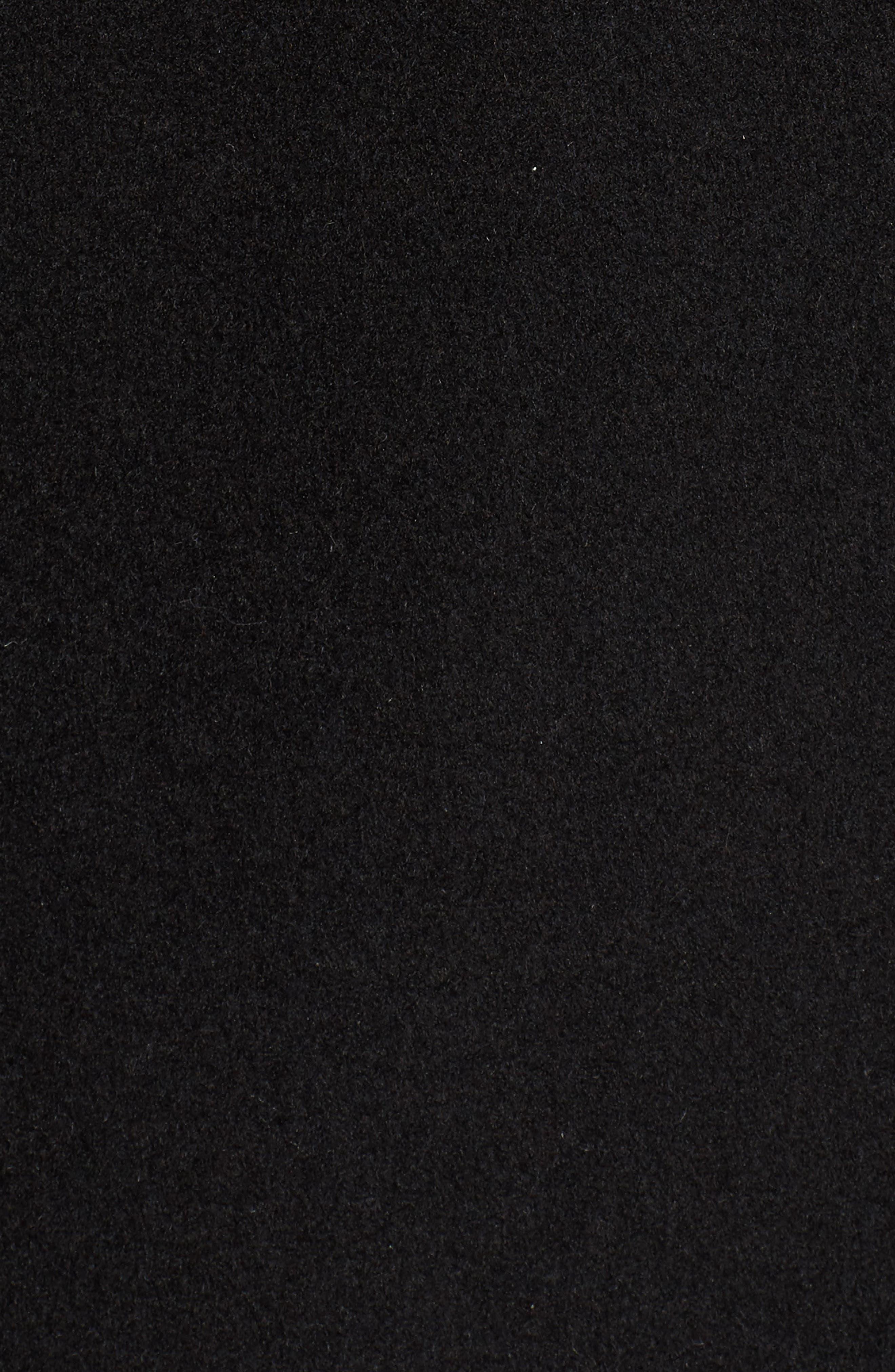 KRISTEN BLAKE, Walking Coat, Alternate thumbnail 7, color, BLACK