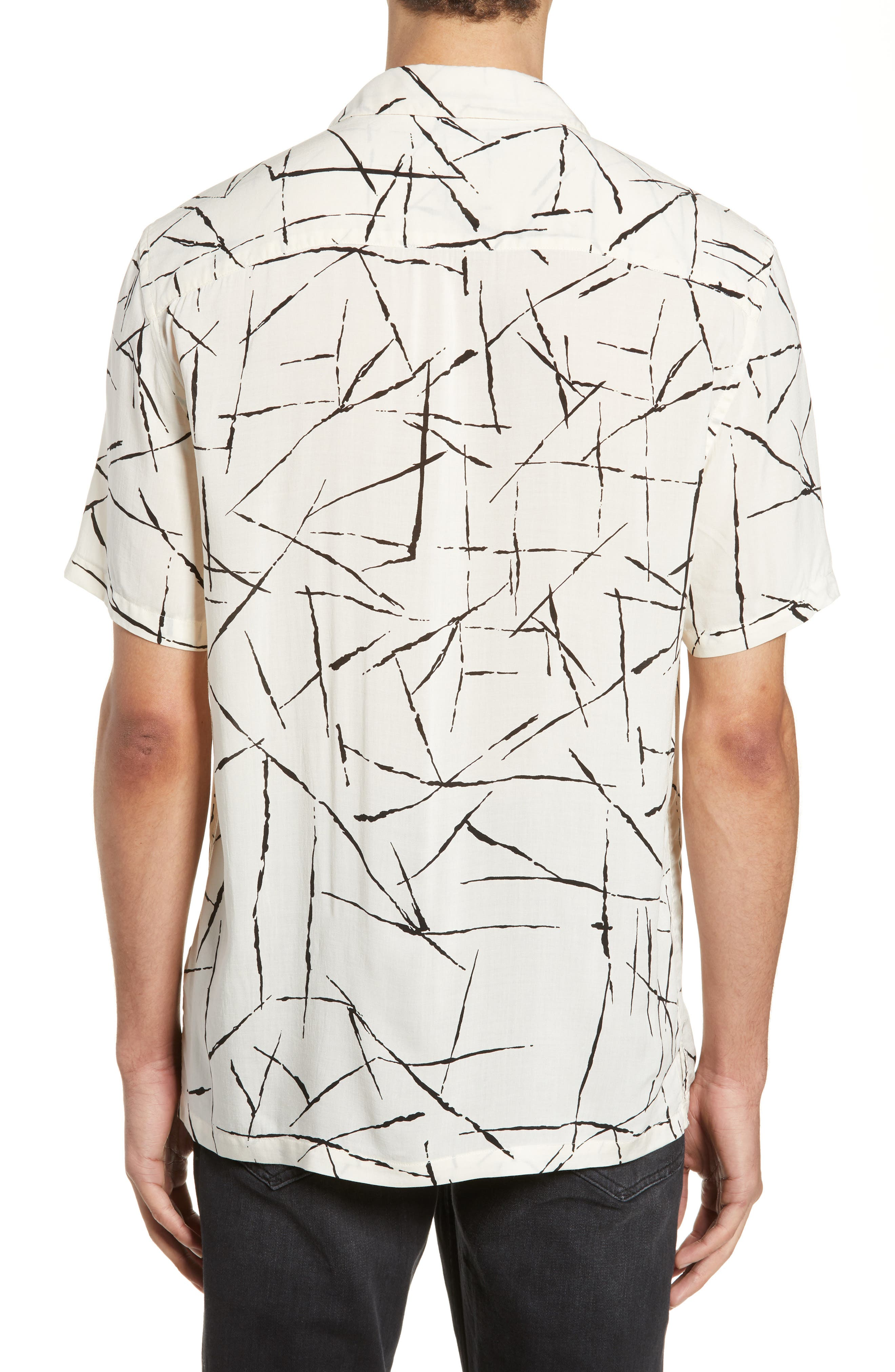ALLSAINTS, Burma Classic Shirt, Alternate thumbnail 3, color, ECRU WHITE