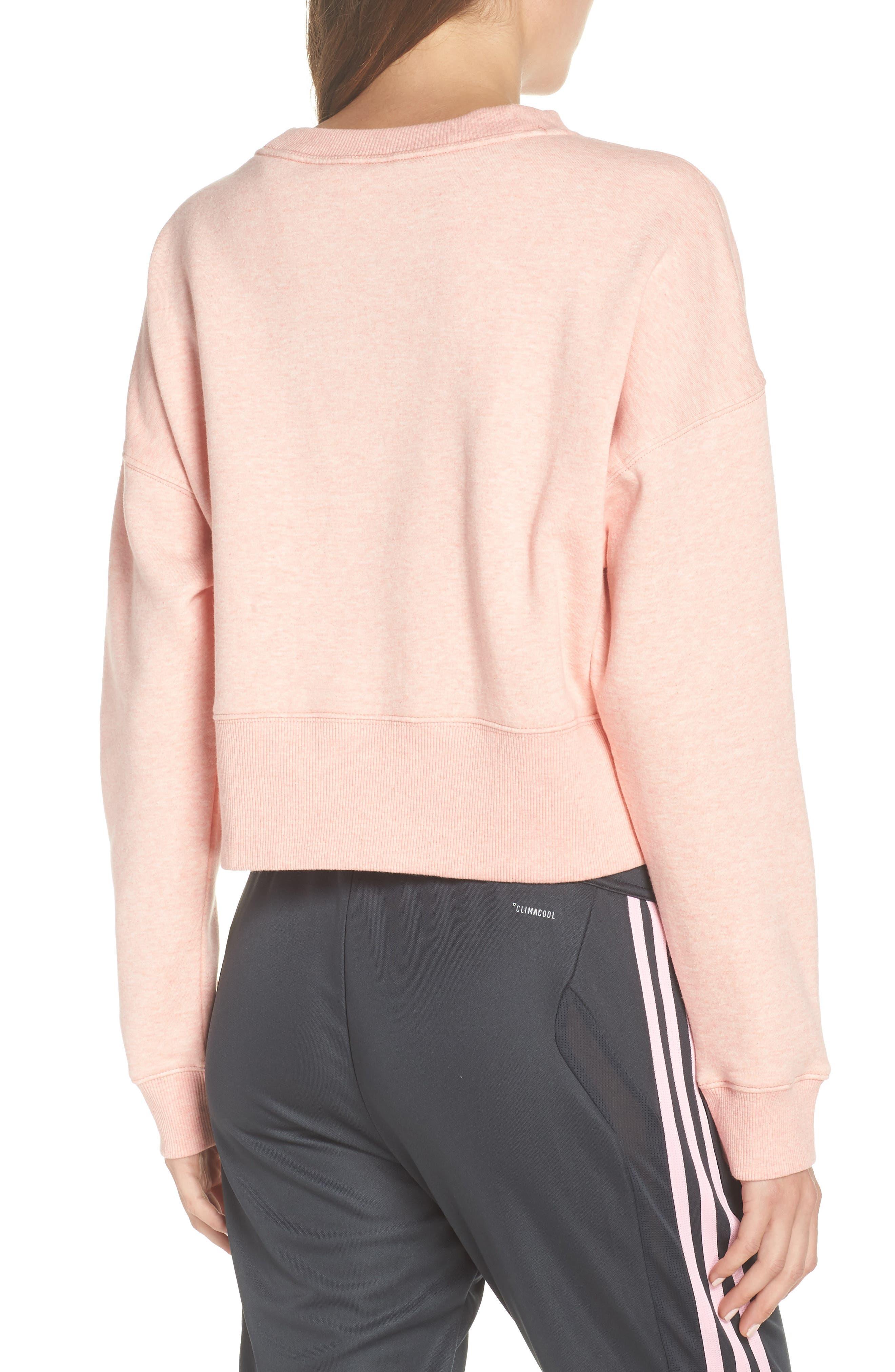 ADIDAS ORIGINALS, adidas Coeeze Crop Sweatshirt, Alternate thumbnail 2, color, 650