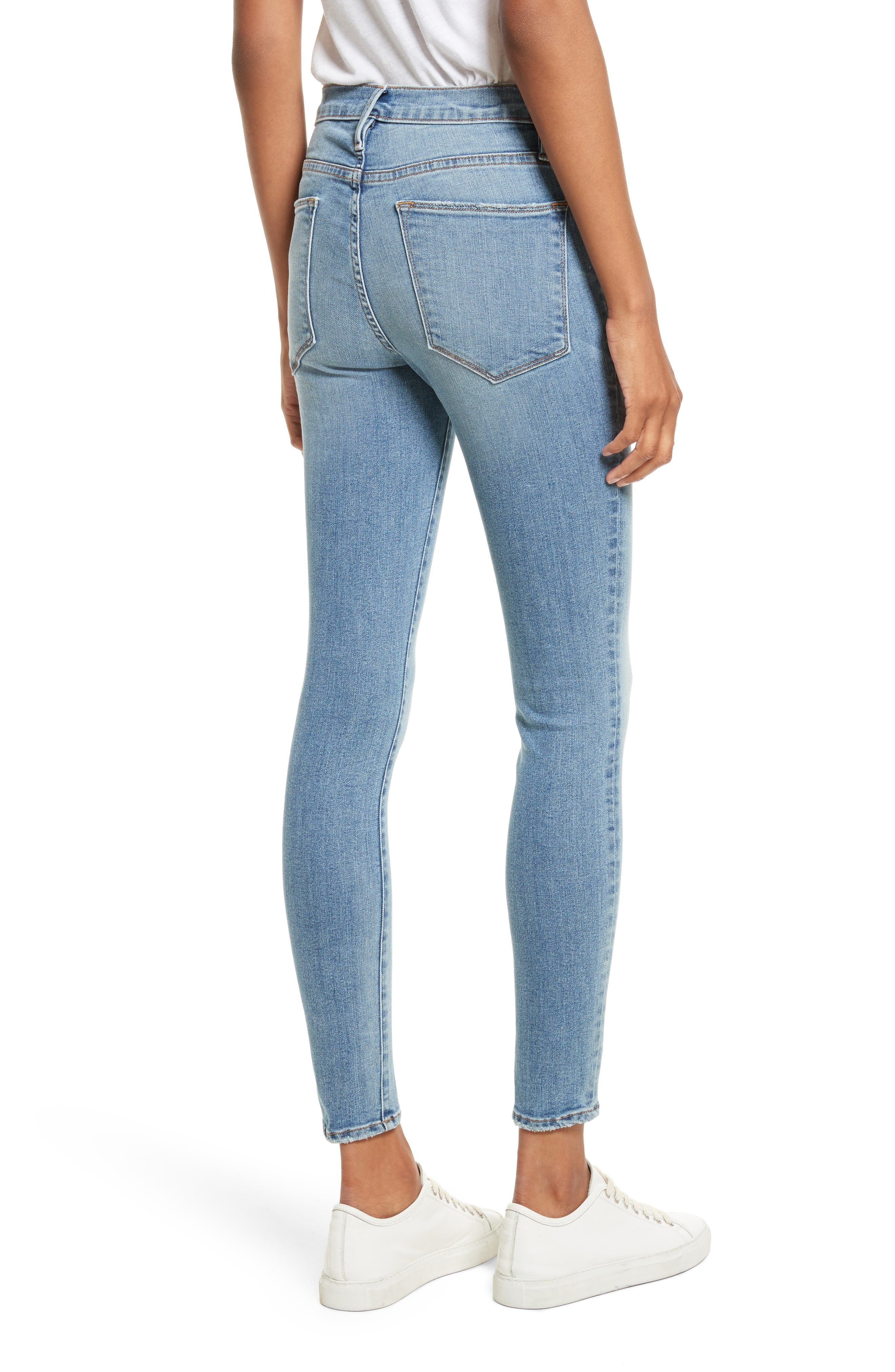 FRAME, Le High Crop Skinny Jeans, Alternate thumbnail 2, color, LOEHR