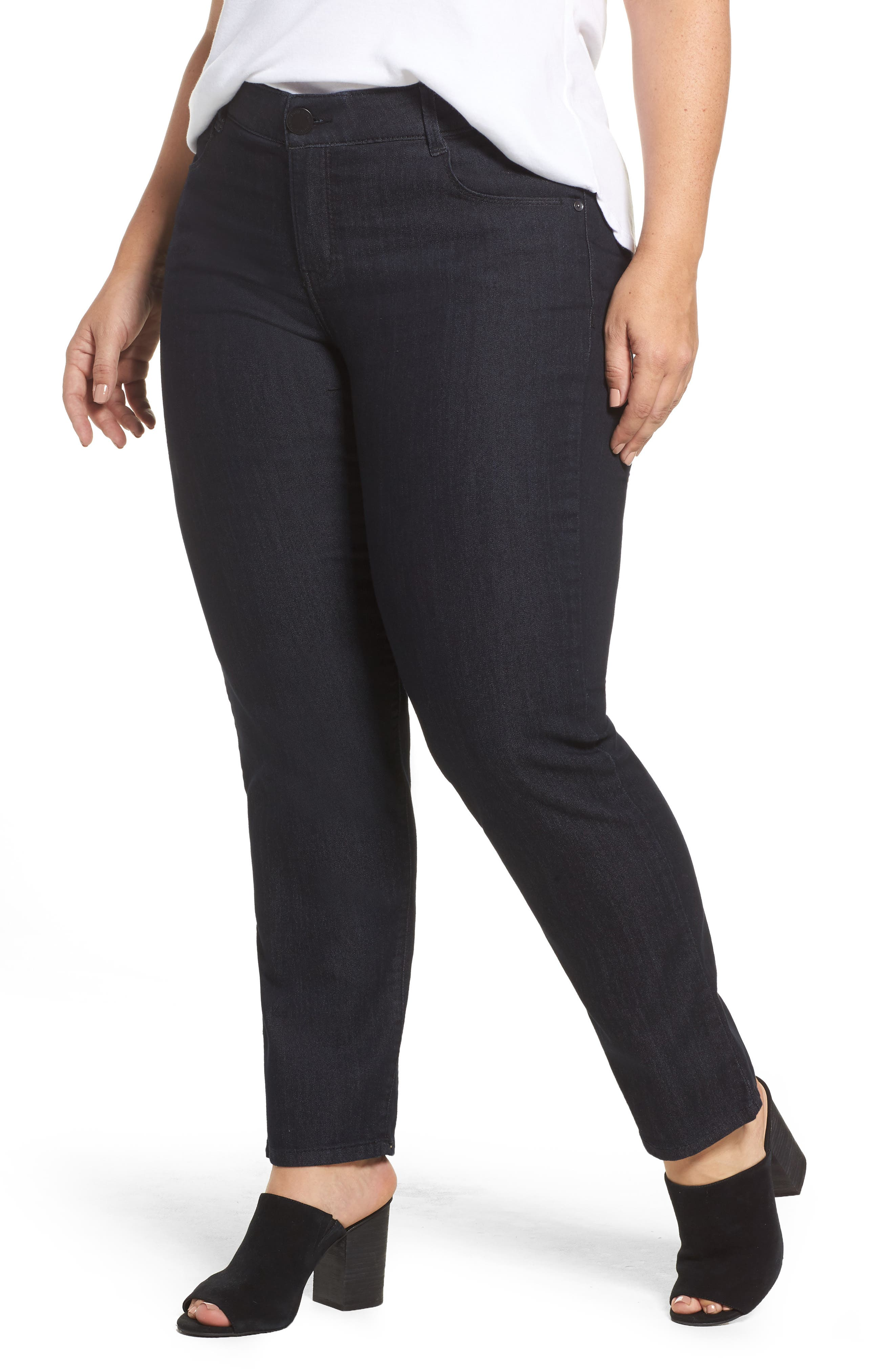 WIT & WISDOM Ab-solution Straight Leg Jeans, Main, color, INDIGO