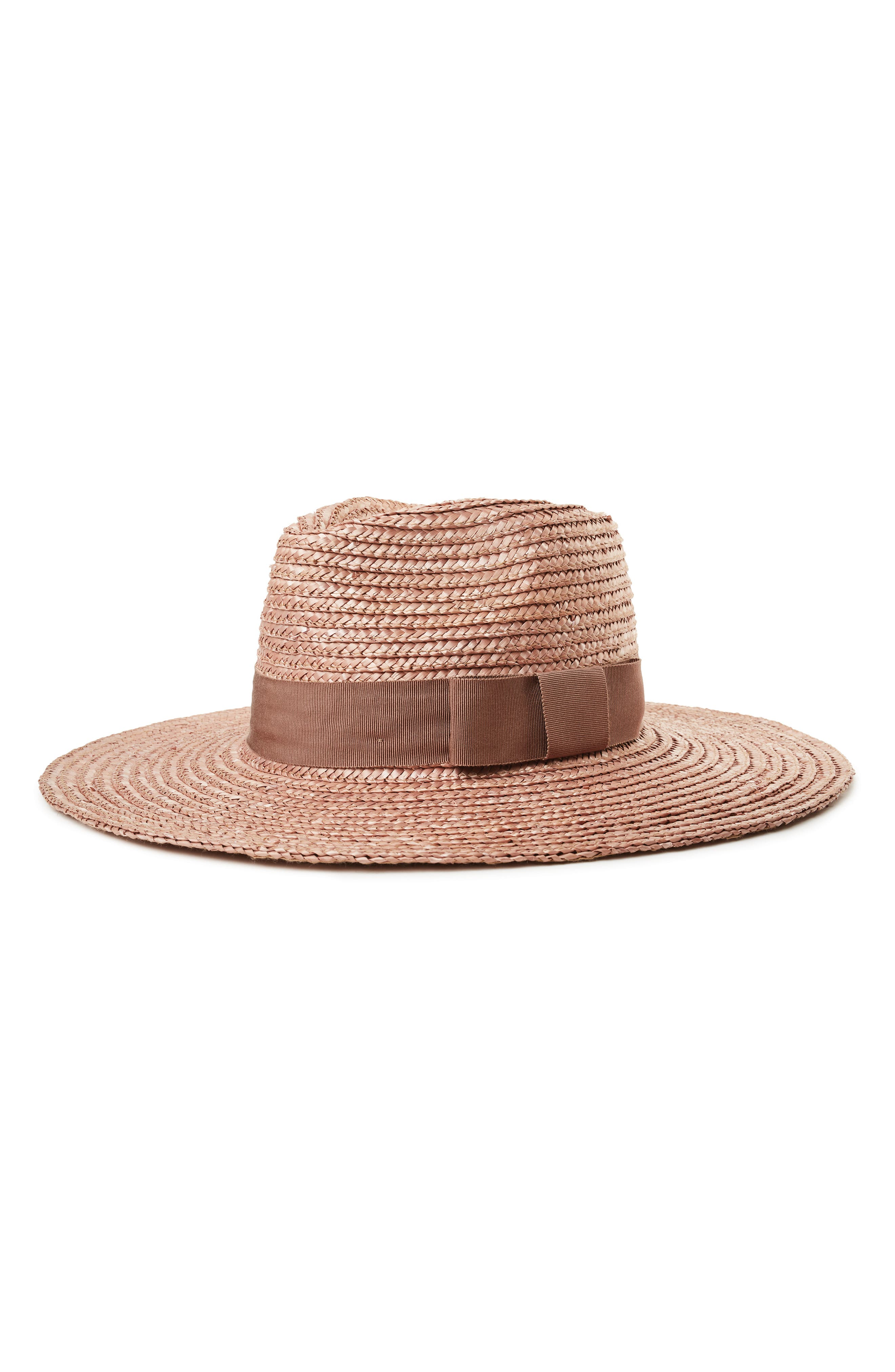 BRIXTON 'Joanna' Straw Hat, Main, color, LILAC