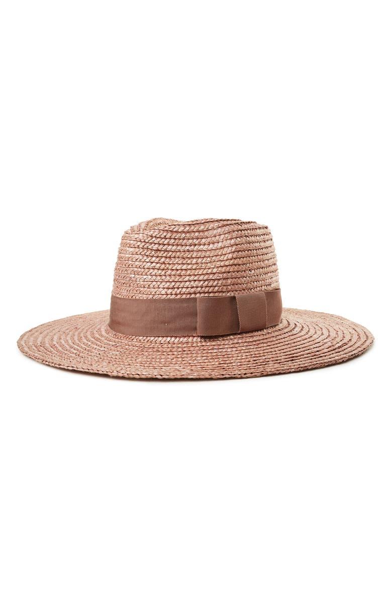 Brixton Hats 'JOANNA' STRAW HAT - PURPLE