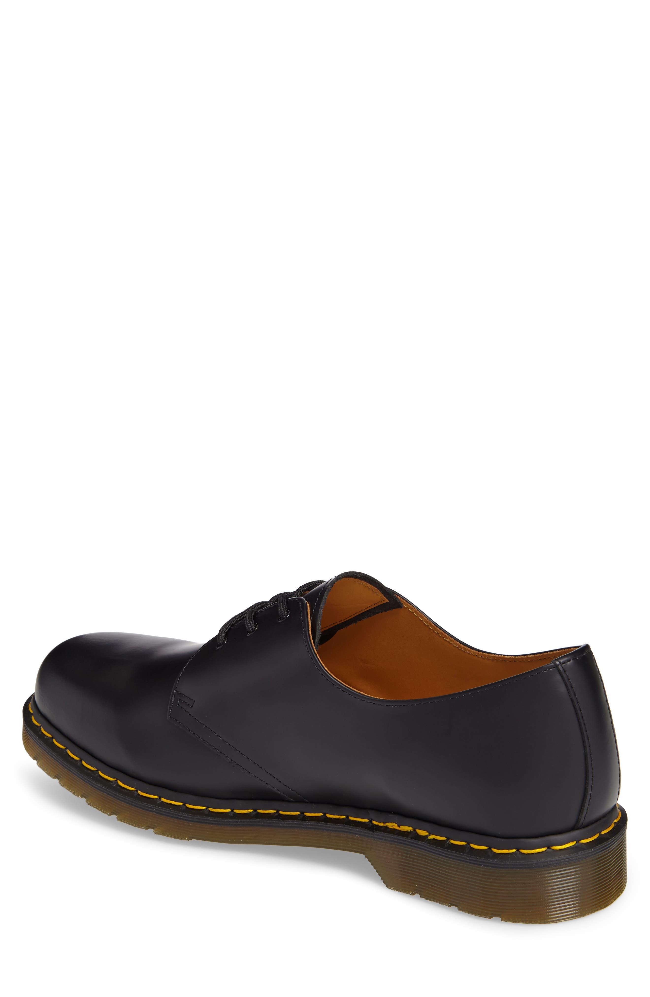 DR. MARTENS, Plain Toe Derby, Alternate thumbnail 2, color, BLACK SMOOTH