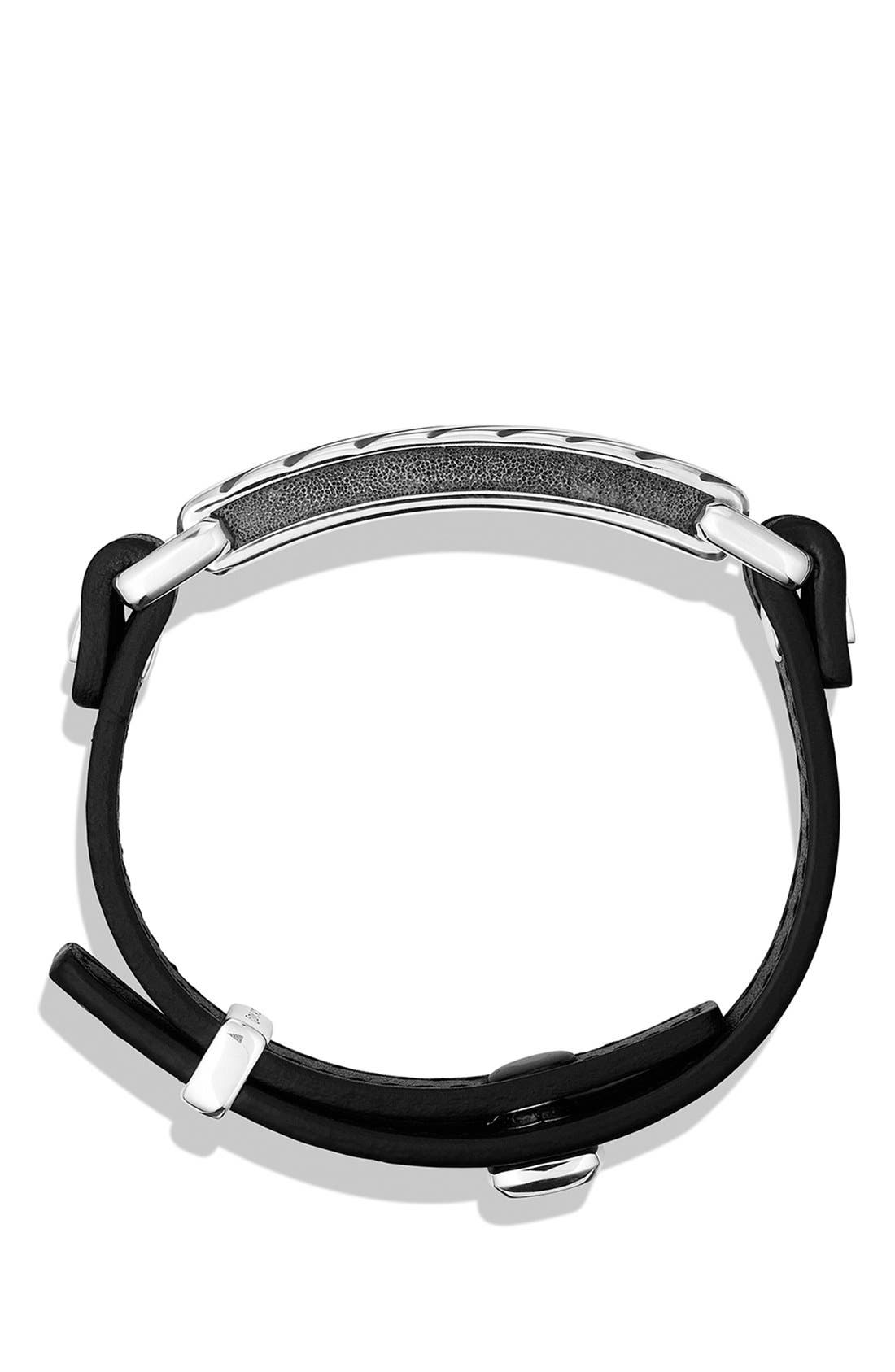 DAVID YURMAN, Modern Cable ID Bracelet, Alternate thumbnail 3, color, BLACK