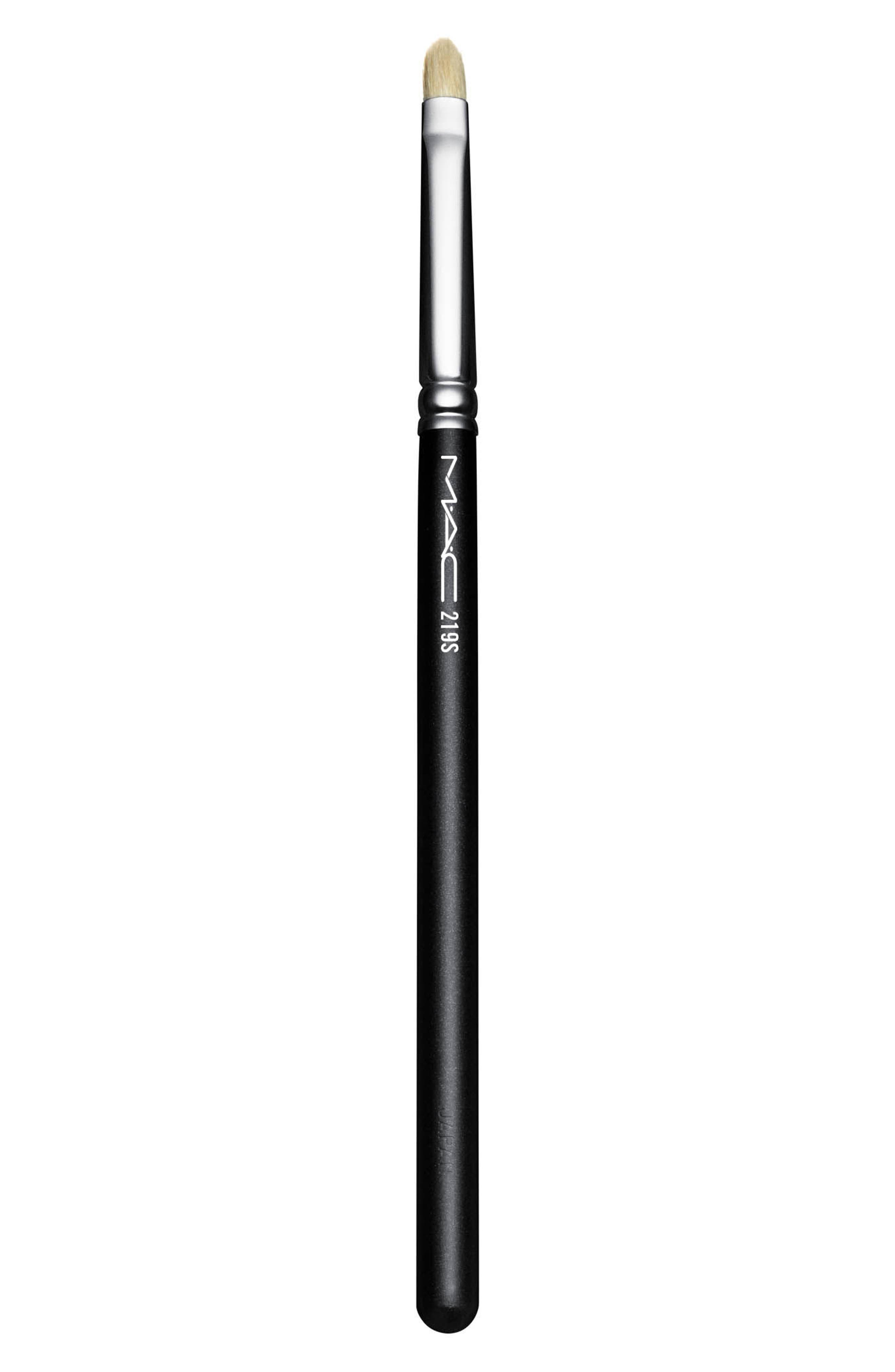 MAC COSMETICS, MAC 219S Synthetic Pencil Brush, Main thumbnail 1, color, 000