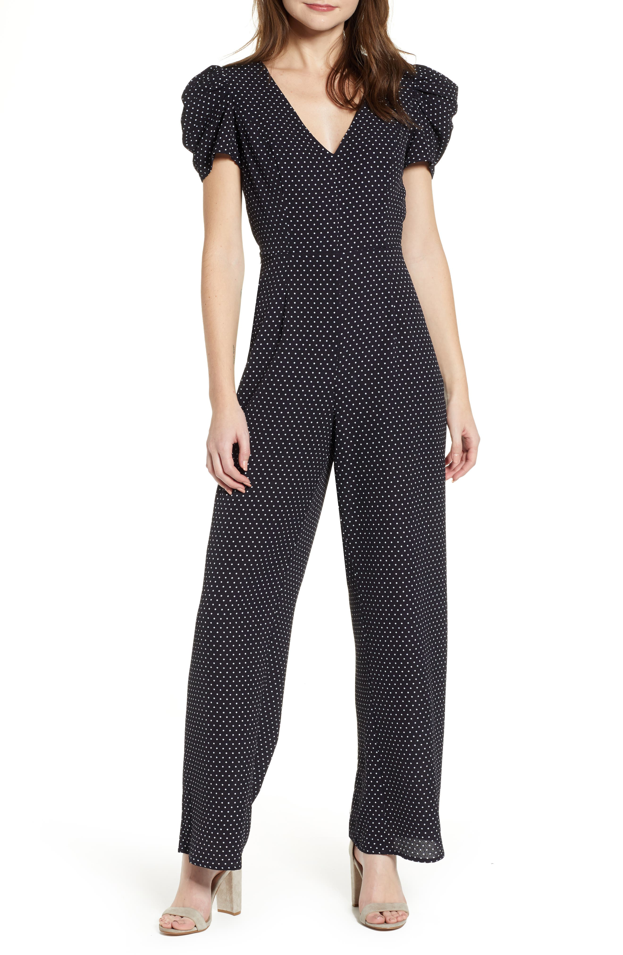 ROW A Puff Sleeve Jumpsuit, Main, color, 410