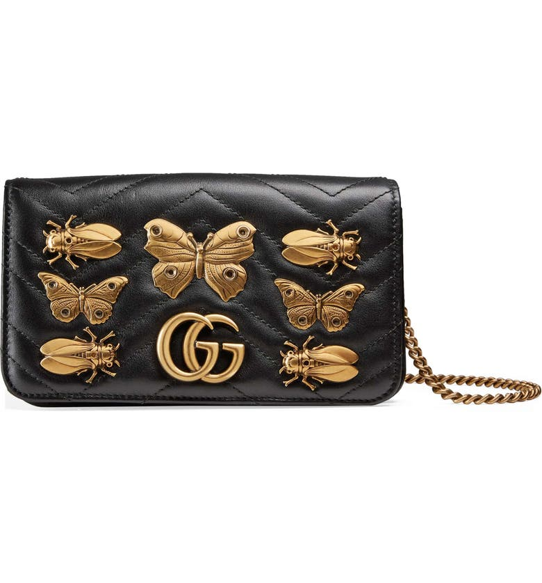 968b6c69830 Gucci GG Marmont 2.0 Animal Stud Matelassé Leather Shoulder Bag ...