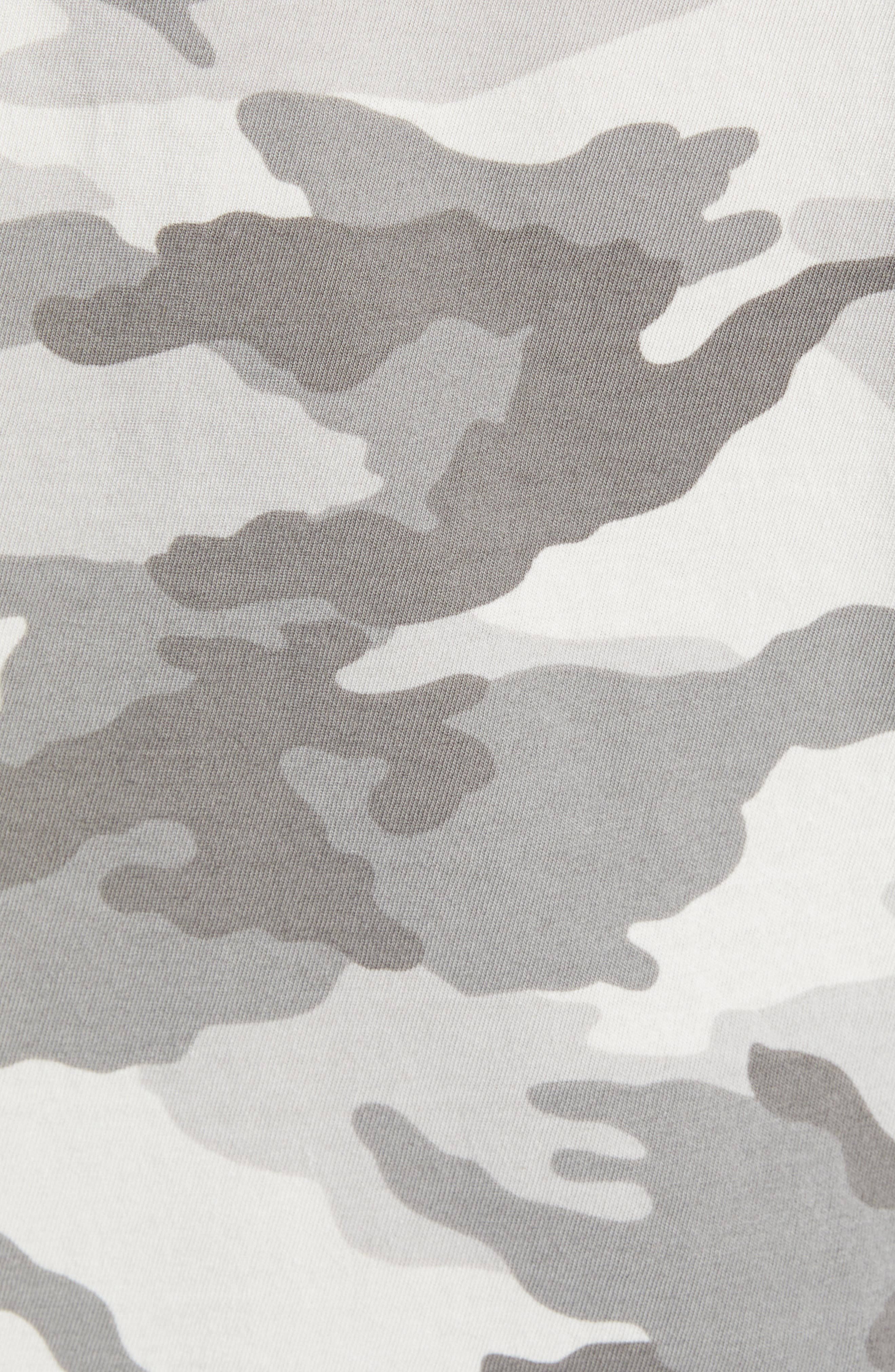 JAMES PERSE, Long Sleeve Yosemite Camo Sweatshirt, Alternate thumbnail 5, color, MIST CAMO