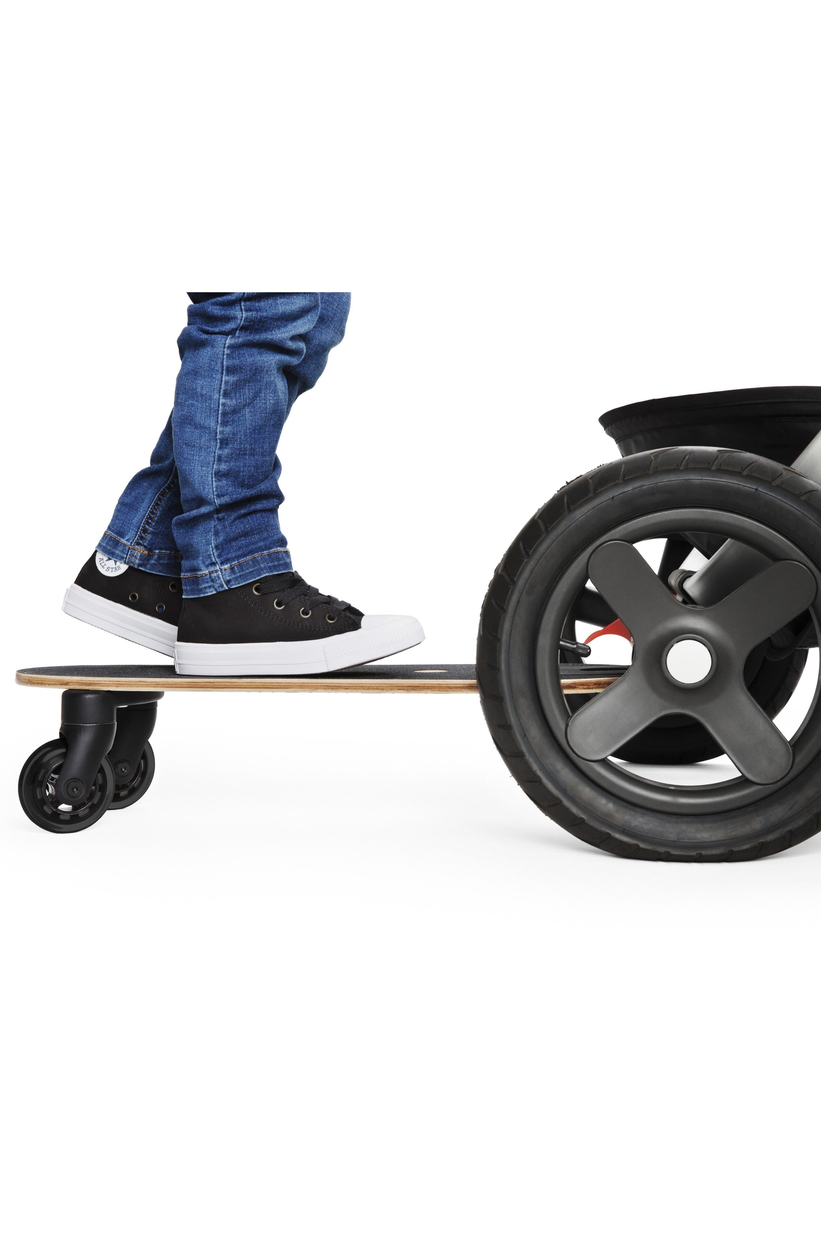 STOKKE, Trailz Sibling Board Stroller Rider, Alternate thumbnail 3, color, BLACK