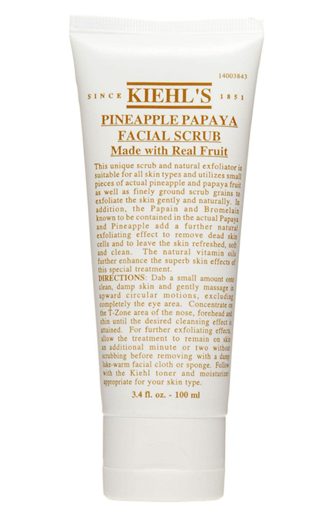 KIEHL'S SINCE 1851, Pineapple Papaya Facial Scrub, Alternate thumbnail 3, color, NO COLOR