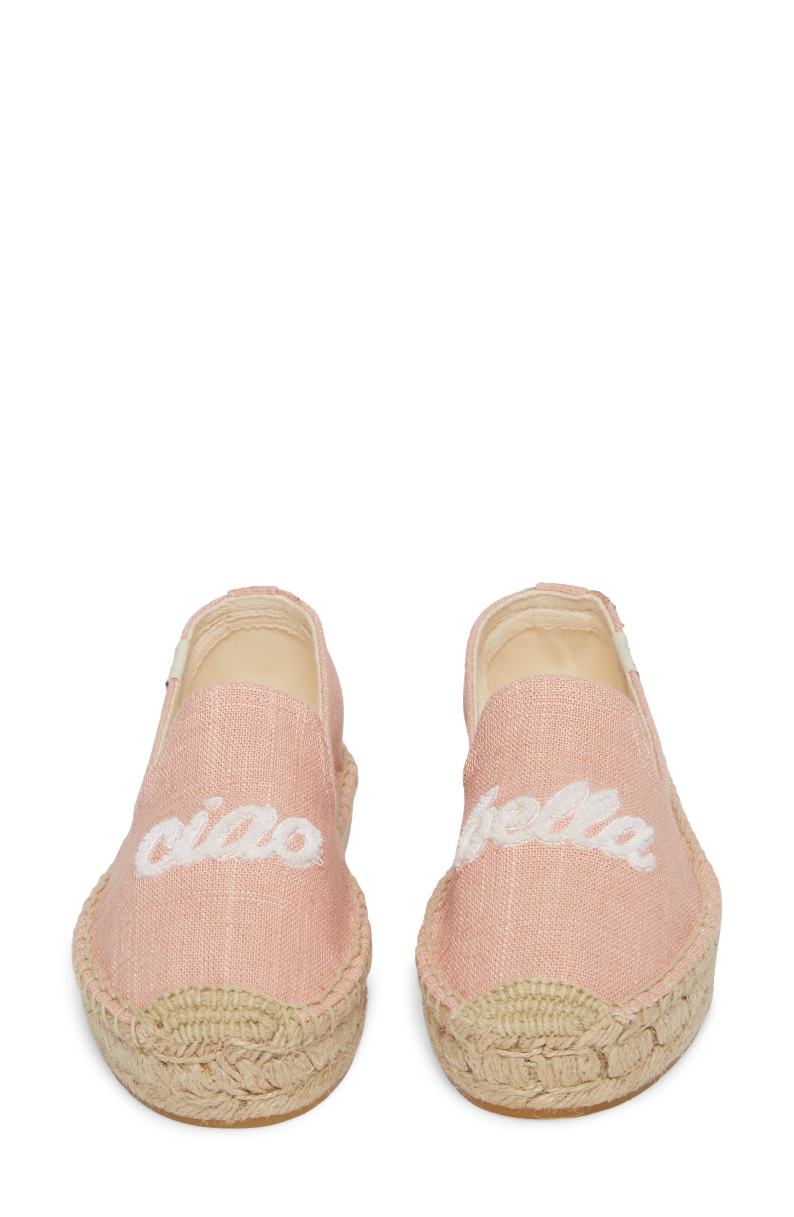 SOLUDOS, Ciao Bella Espadrille Flat, Alternate thumbnail 5, color, DUSTY ROSE FABRIC