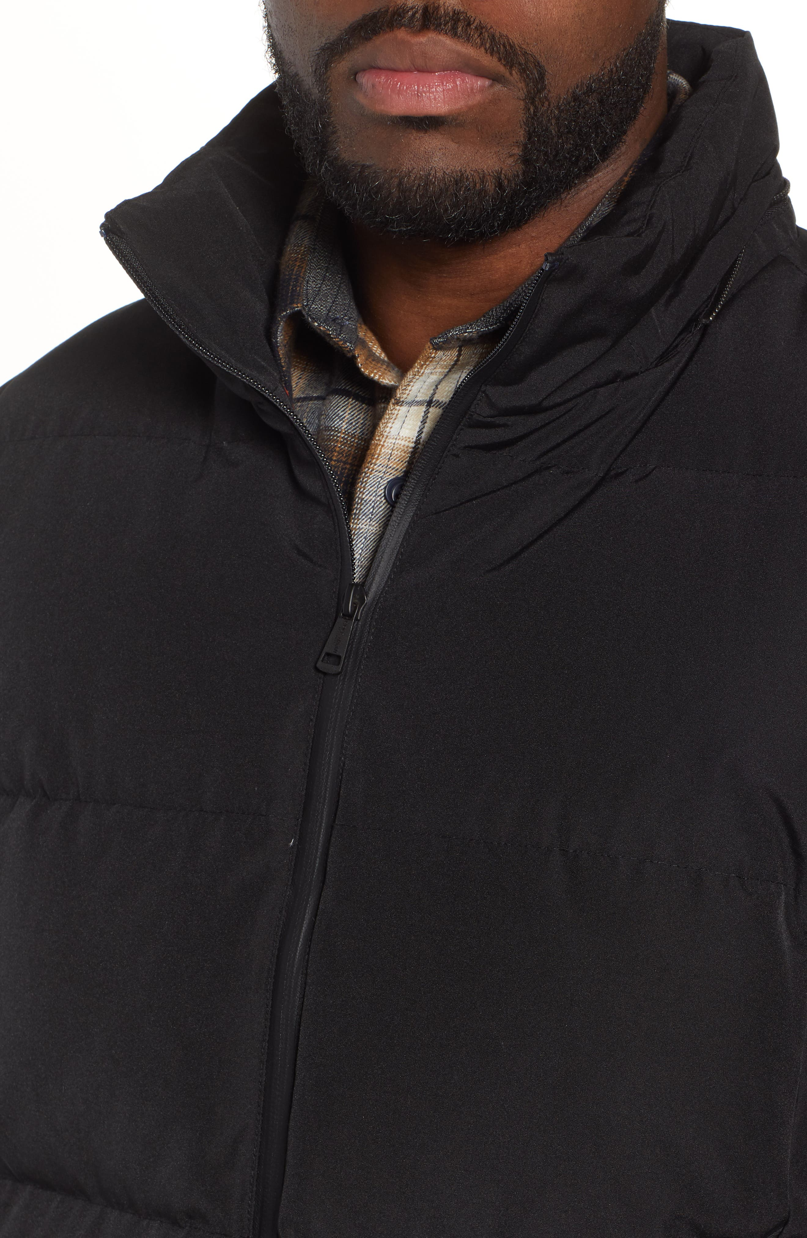 COLE HAAN SIGNATURE, Hooded Puffer Jacket, Alternate thumbnail 5, color, 001