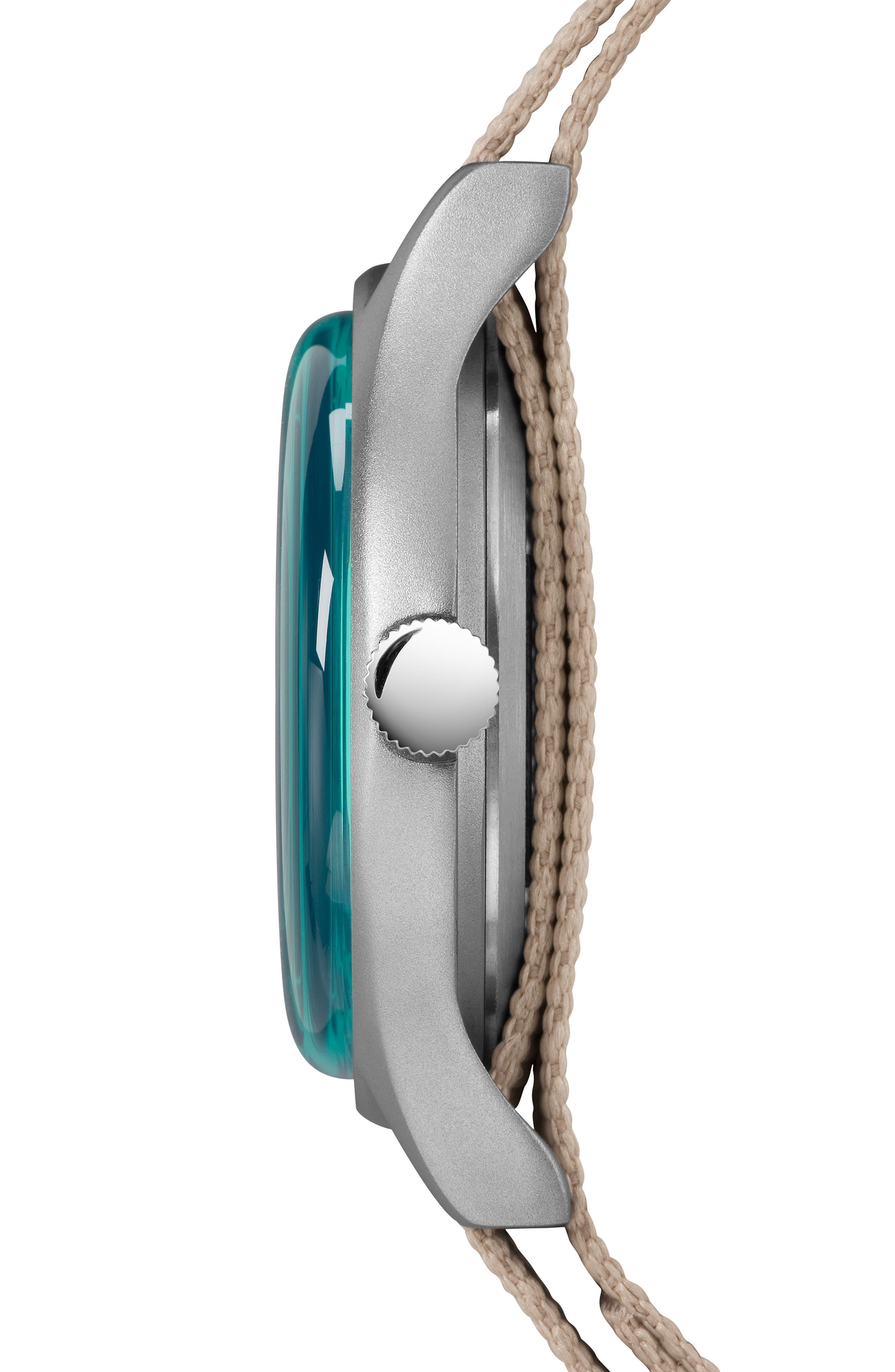 TIMEX<SUP>®</SUP>, MK1 Nylon Strap Watch, 40mm, Alternate thumbnail 2, color, TAN/ BLUE/ GREY