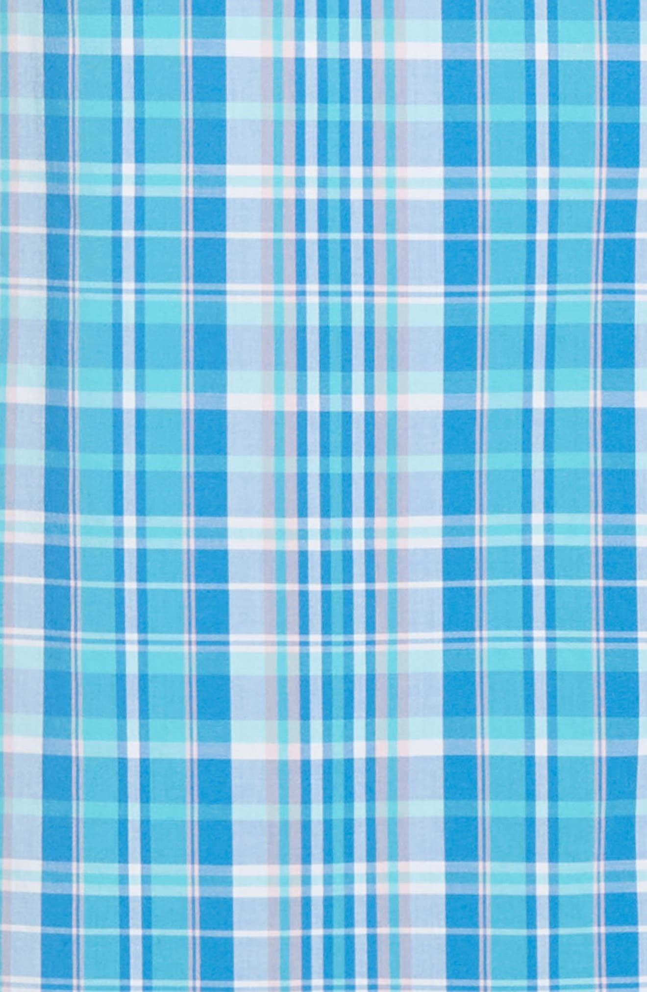 VINEYARD VINES, Tucker Regular Fit Plaid Sport Shirt, Alternate thumbnail 6, color, JAKE BLUE