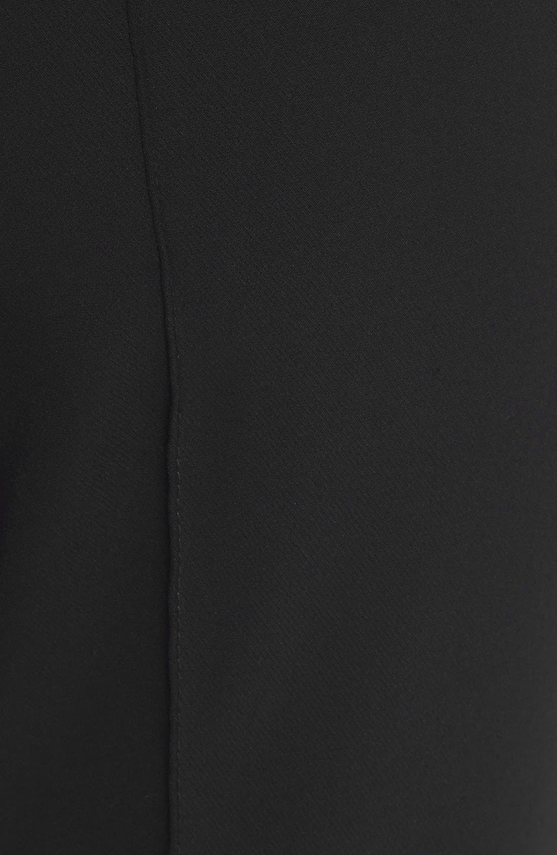 LAFAYETTE 148 NEW YORK, 'Gramercy' Acclaimed Stretch Pants, Alternate thumbnail 7, color, BLACK