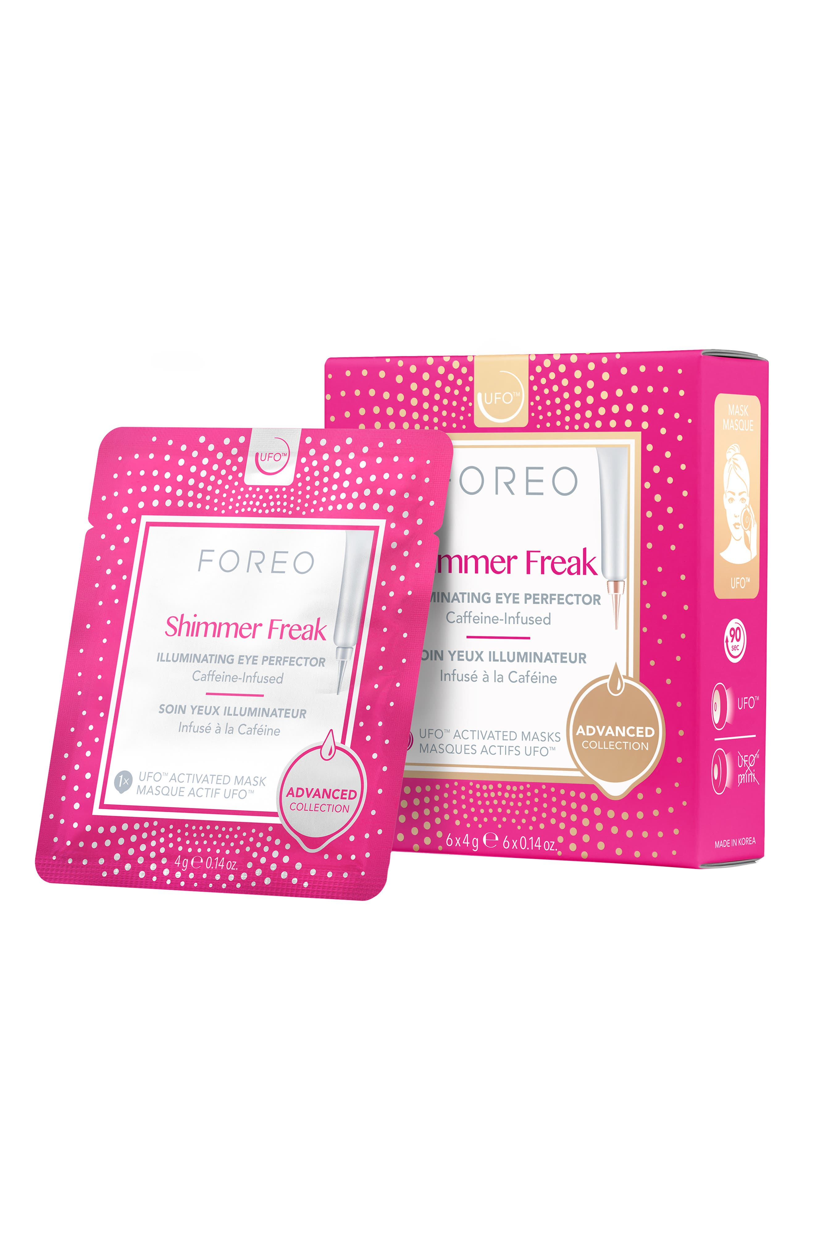 FOREO, Shimmer Freak UFO<sup>™</sup> Activated Eye Mask, Alternate thumbnail 2, color, NO COLOR