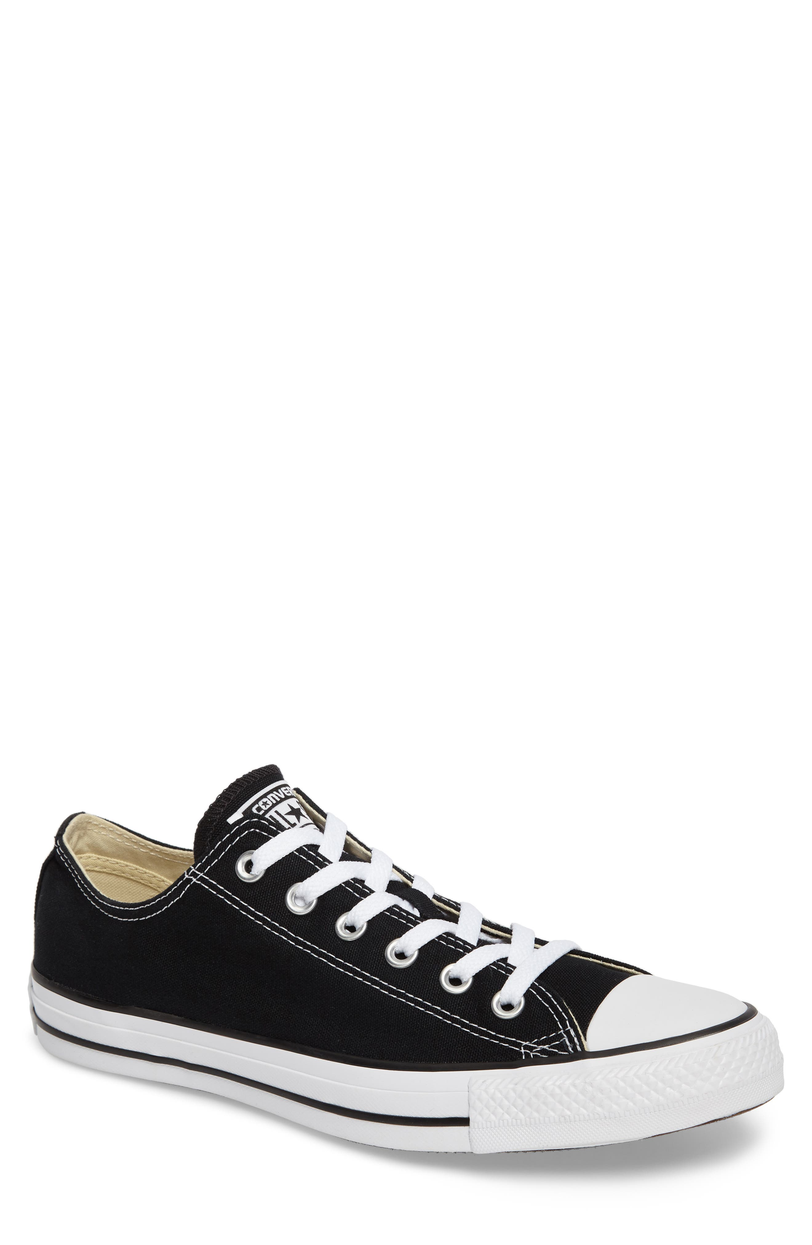CONVERSE, Chuck Taylor<sup>®</sup> Low Sneaker, Main thumbnail 1, color, BLACK