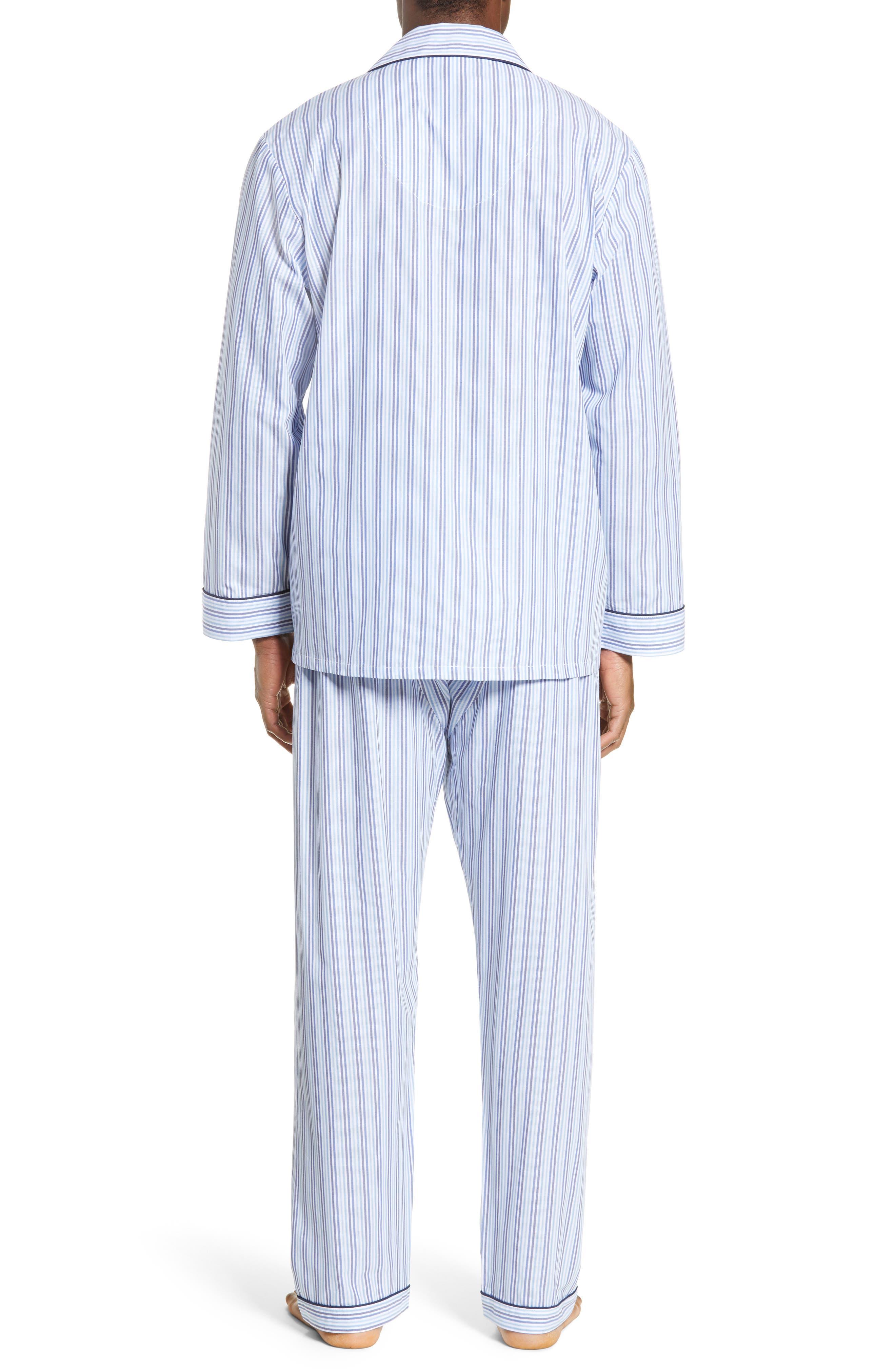MAJESTIC INTERNATIONAL, Easy Care Pajamas, Alternate thumbnail 2, color, SKY BLUE