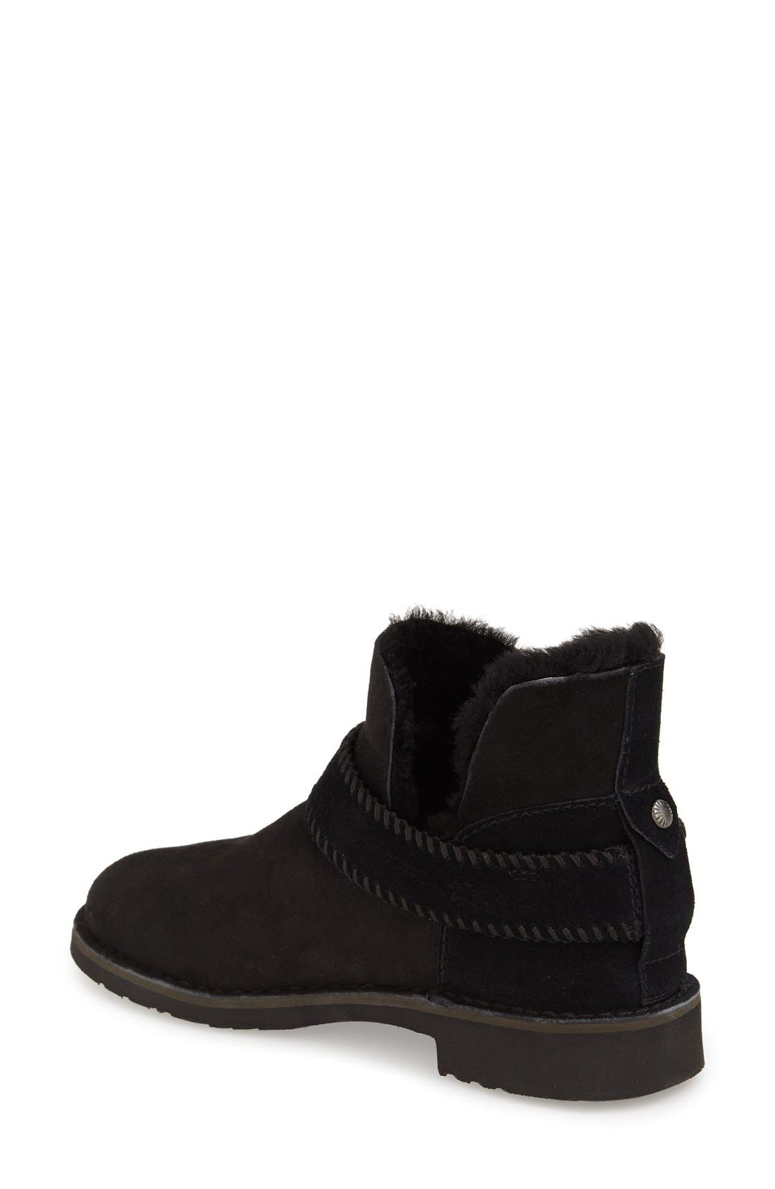 UGG<SUP>®</SUP>, McKay Water Resistant Bootie, Alternate thumbnail 2, color, BLACK SUEDE