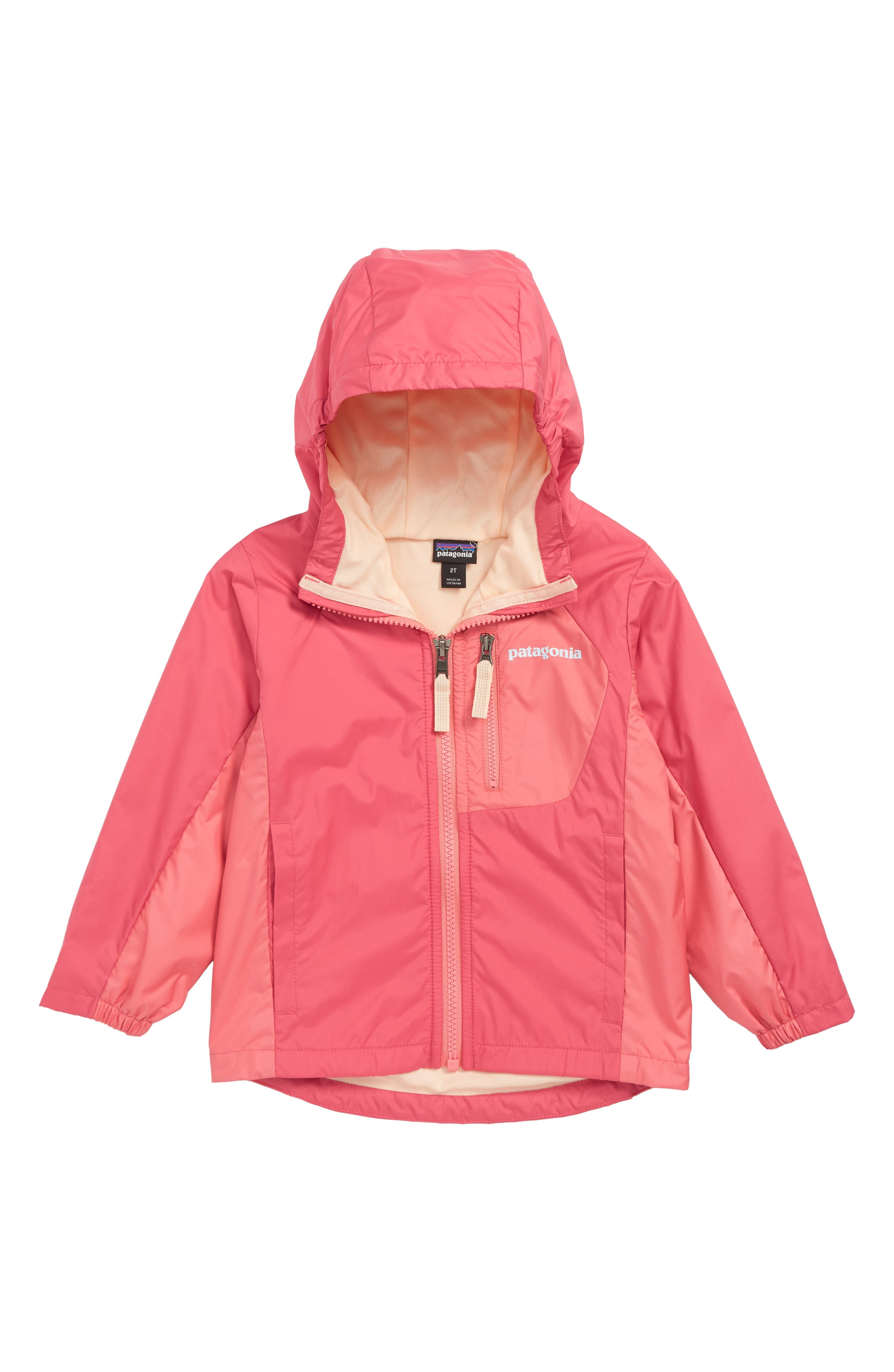 PATAGONIA Quartzsite Hooded Jacket, Main, color, REPI REEF PINK
