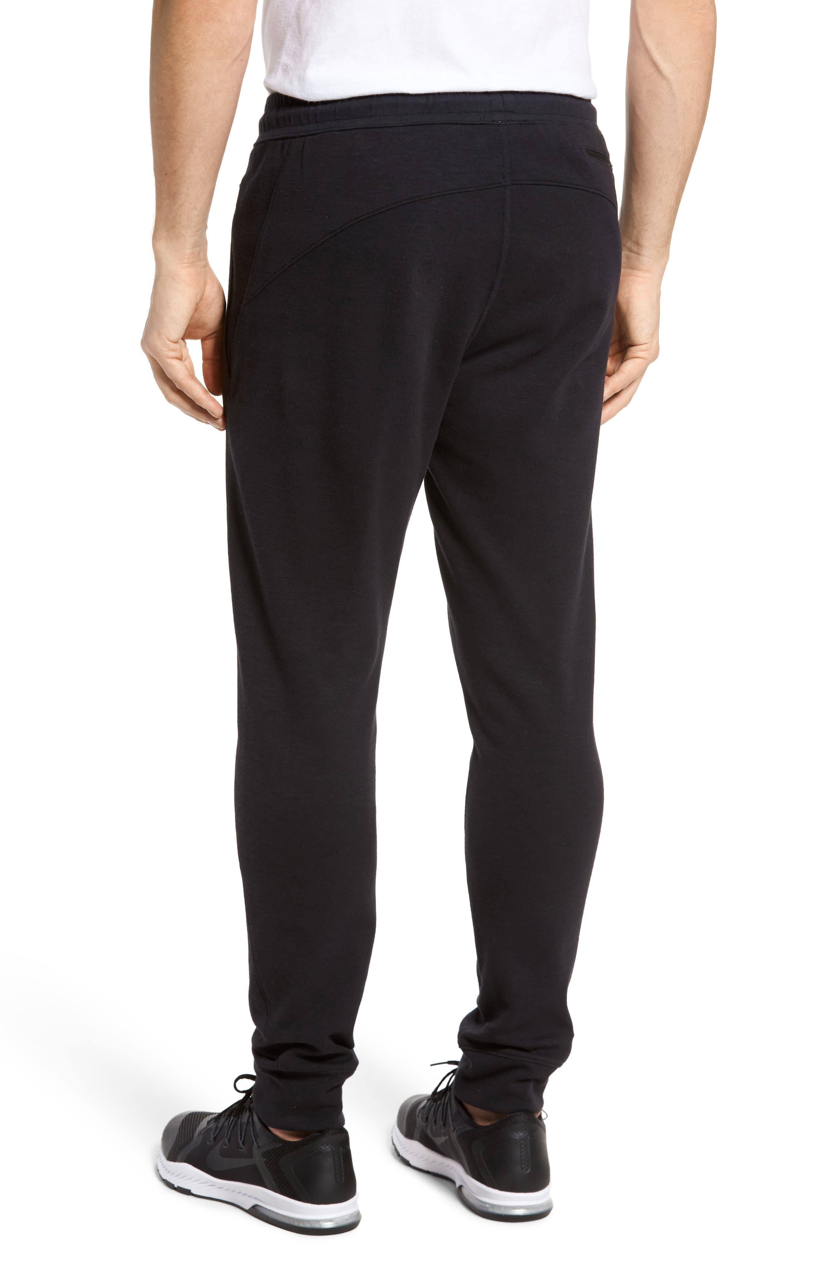 ZELLA, Magnetite Fleece Jogger Pants, Alternate thumbnail 2, color, 001