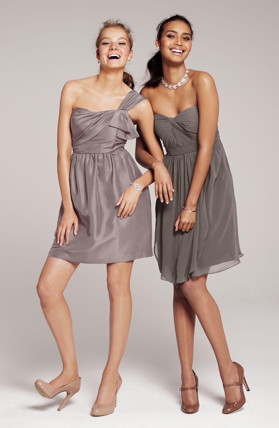 JENNY YOO, Convertible Shantung Dress, Alternate thumbnail 5, color, 020