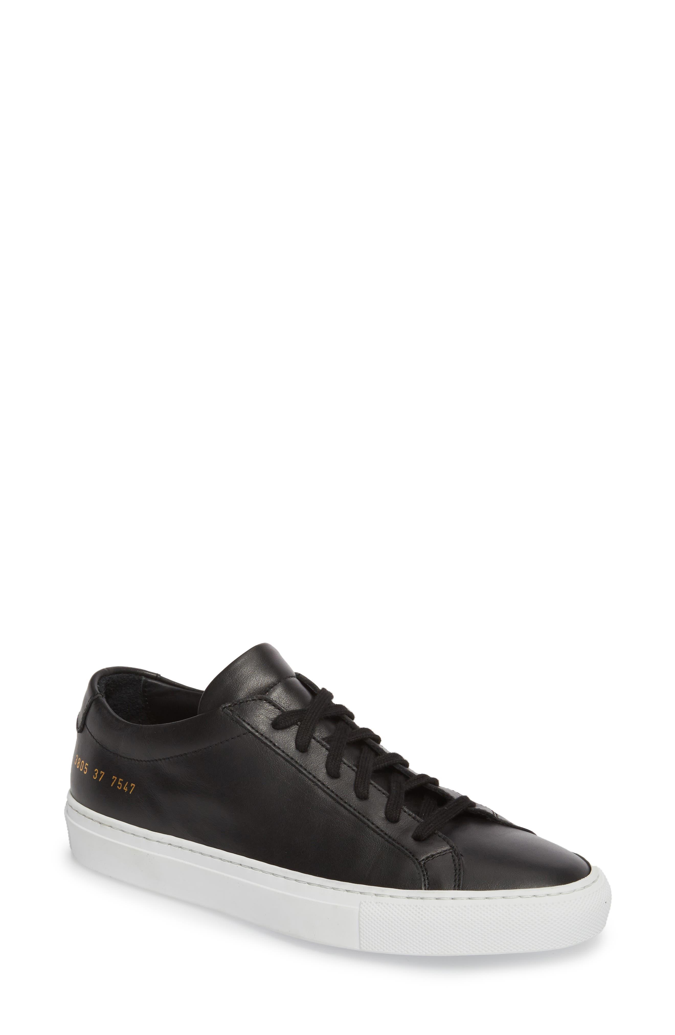 COMMON PROJECTS, Original Achilles Low Sneaker, Main thumbnail 1, color, BLACK
