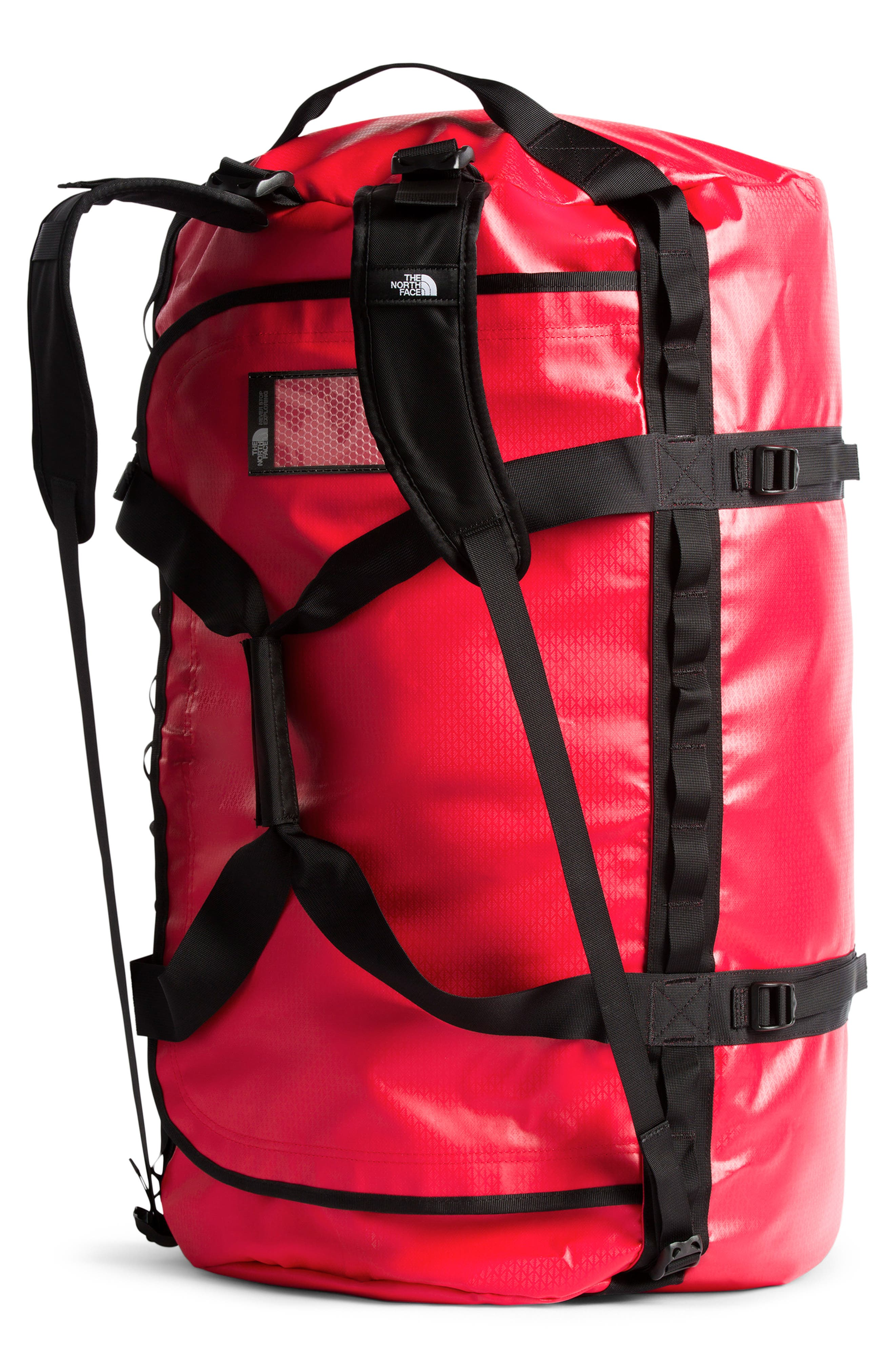 THE NORTH FACE, Base Camp XL Duffle Bag, Alternate thumbnail 4, color, RED/ BLACK