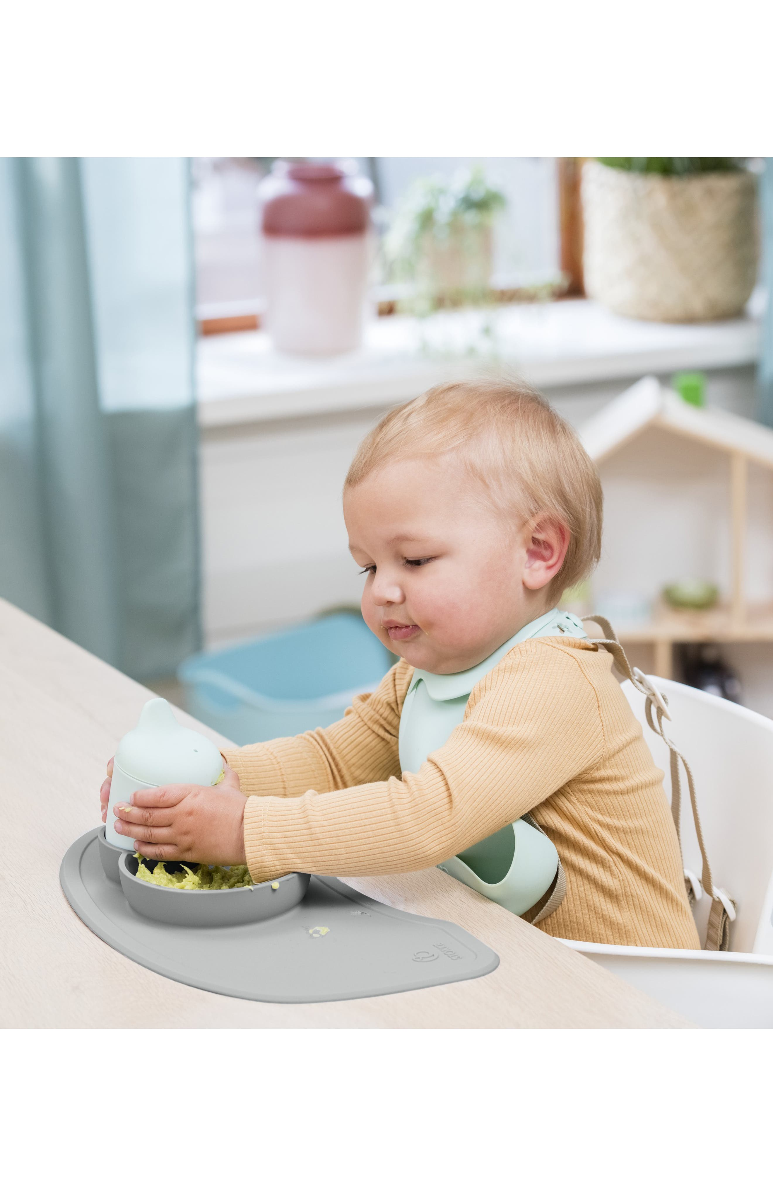 STOKKE, x ezpz Silicone Placemat for Steps<sup>™</sup> High Chair, Alternate thumbnail 3, color, GREY