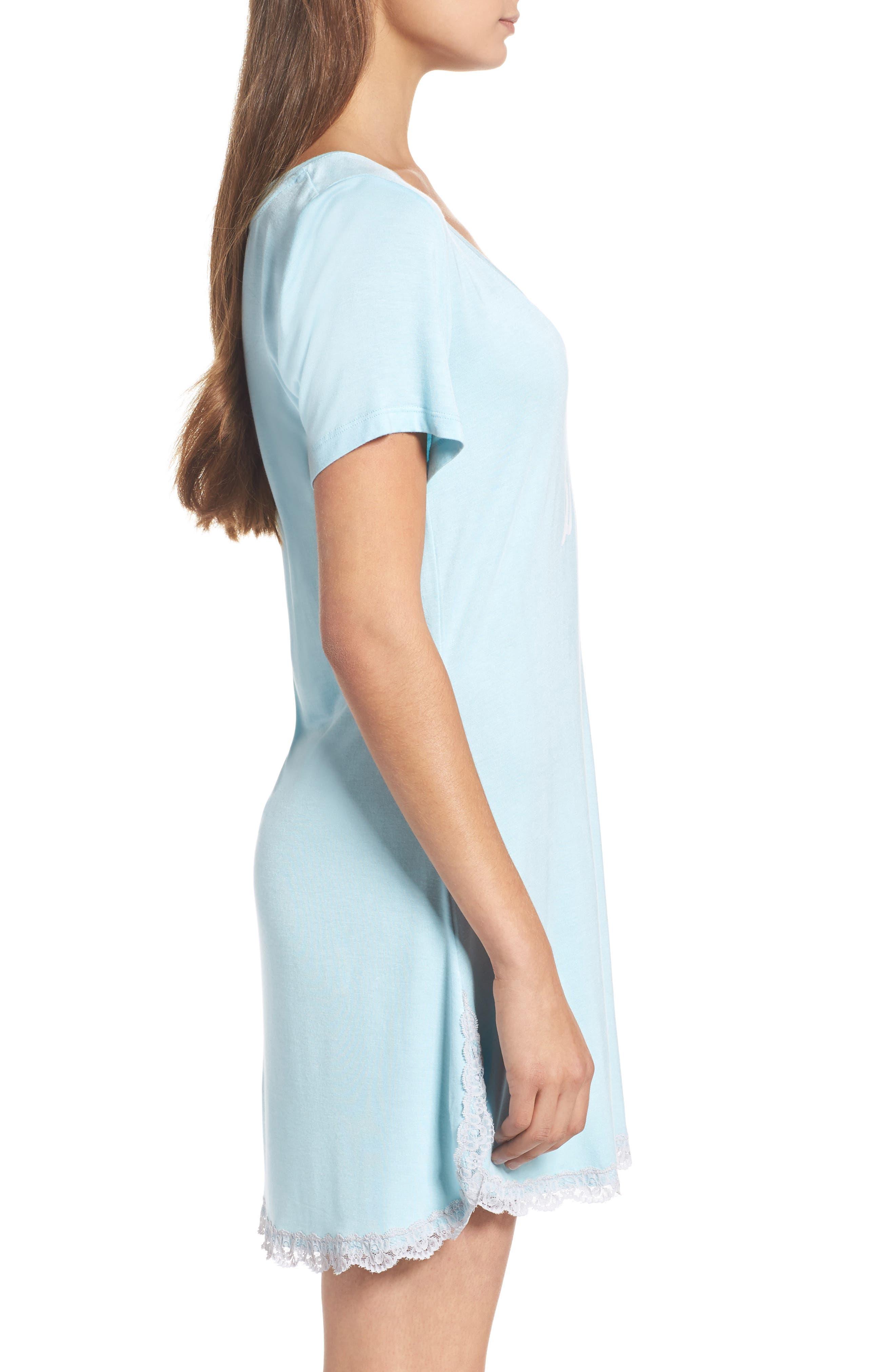 HONEYDEW INTIMATES, 'All American' Sleep Shirt, Alternate thumbnail 3, color, I DO