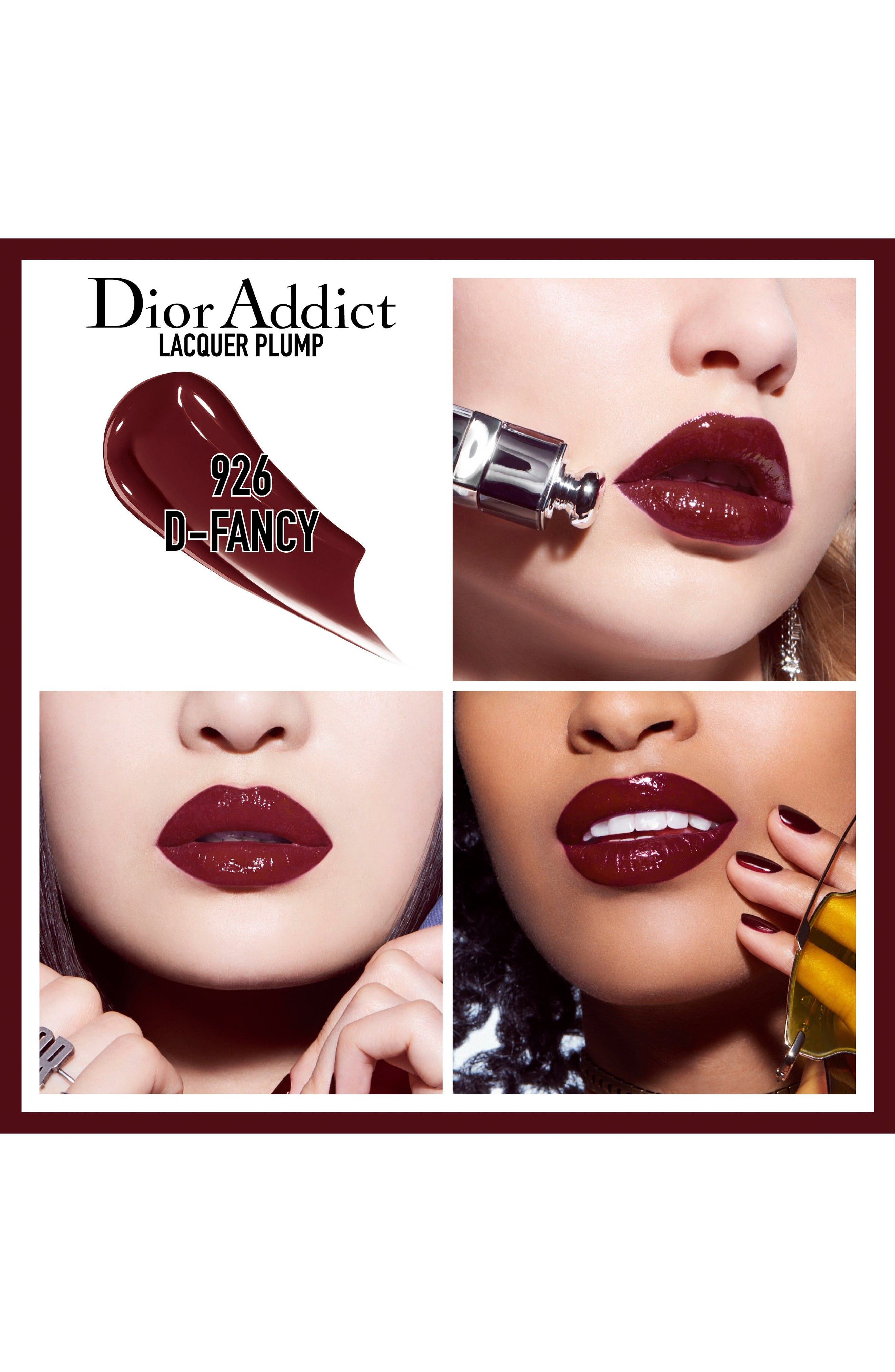 DIOR, Addict Lip Plumping Lacquer Ink, Alternate thumbnail 2, color, 926 D-FANCY / BOLD CHOCOLATE