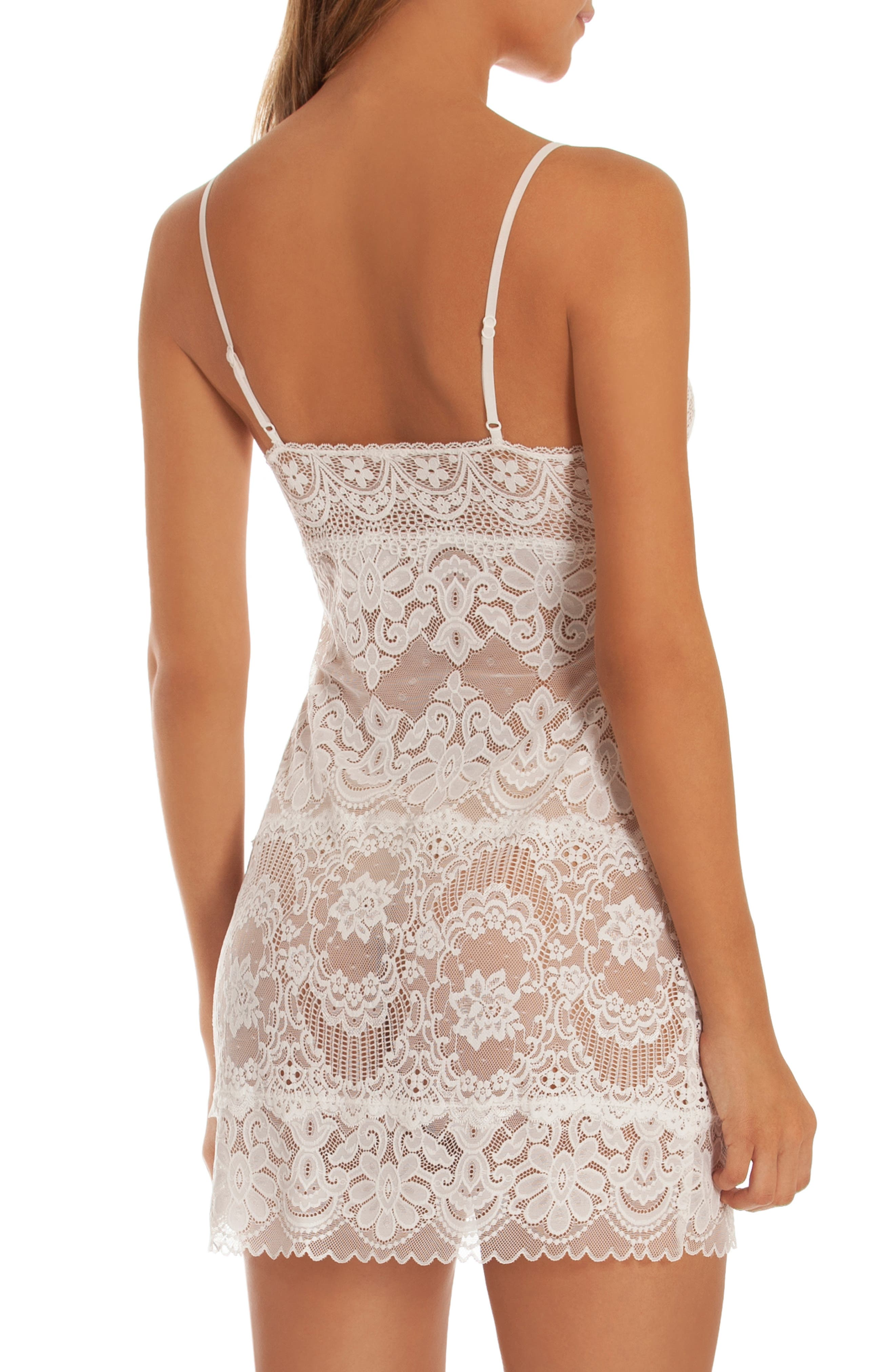 IN BLOOM BY JONQUIL, Lace Chemise, Alternate thumbnail 2, color, IVORY