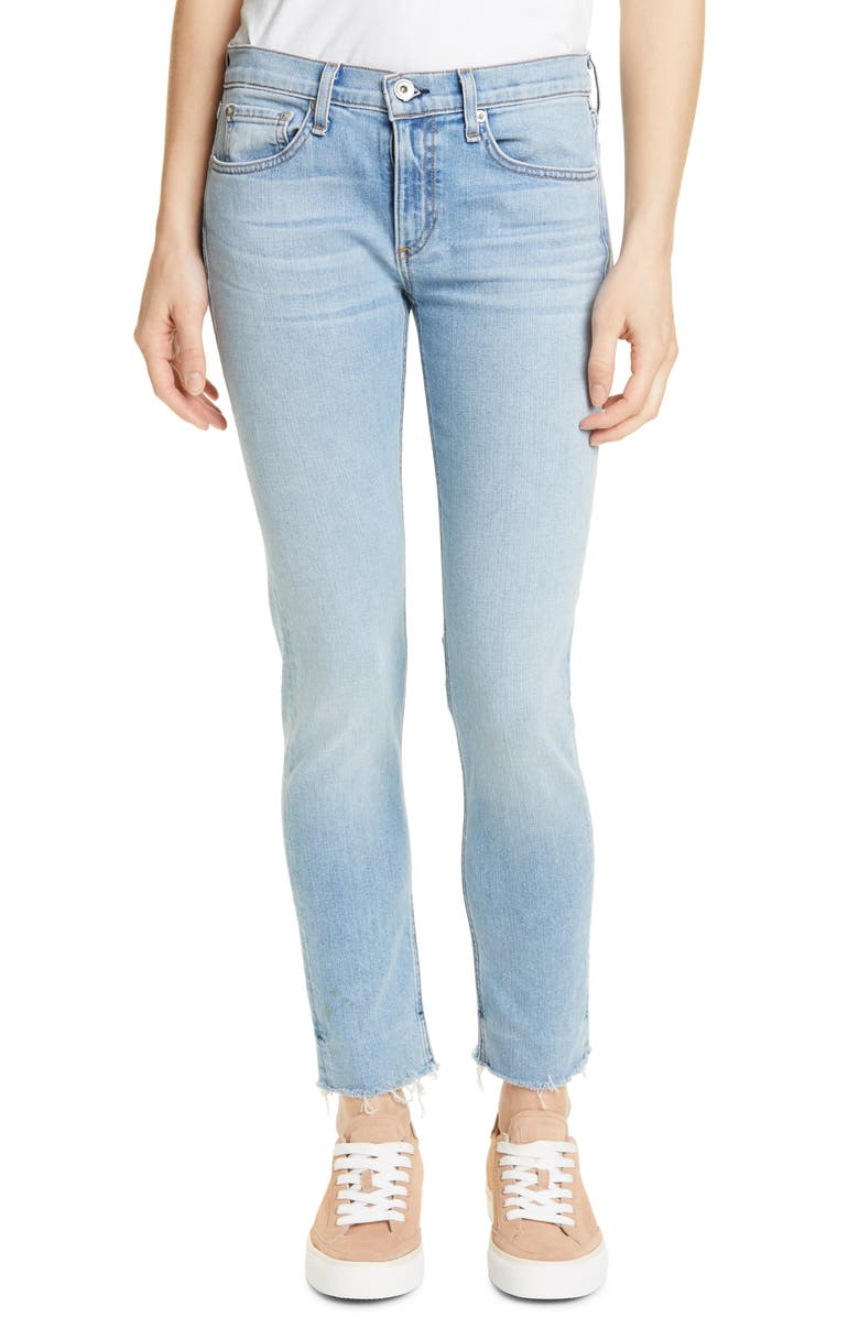ba862091 Rag & Bone Dre Low-Rise Slim Boyfriend Jeans W/ Raw Hem In Albion ...