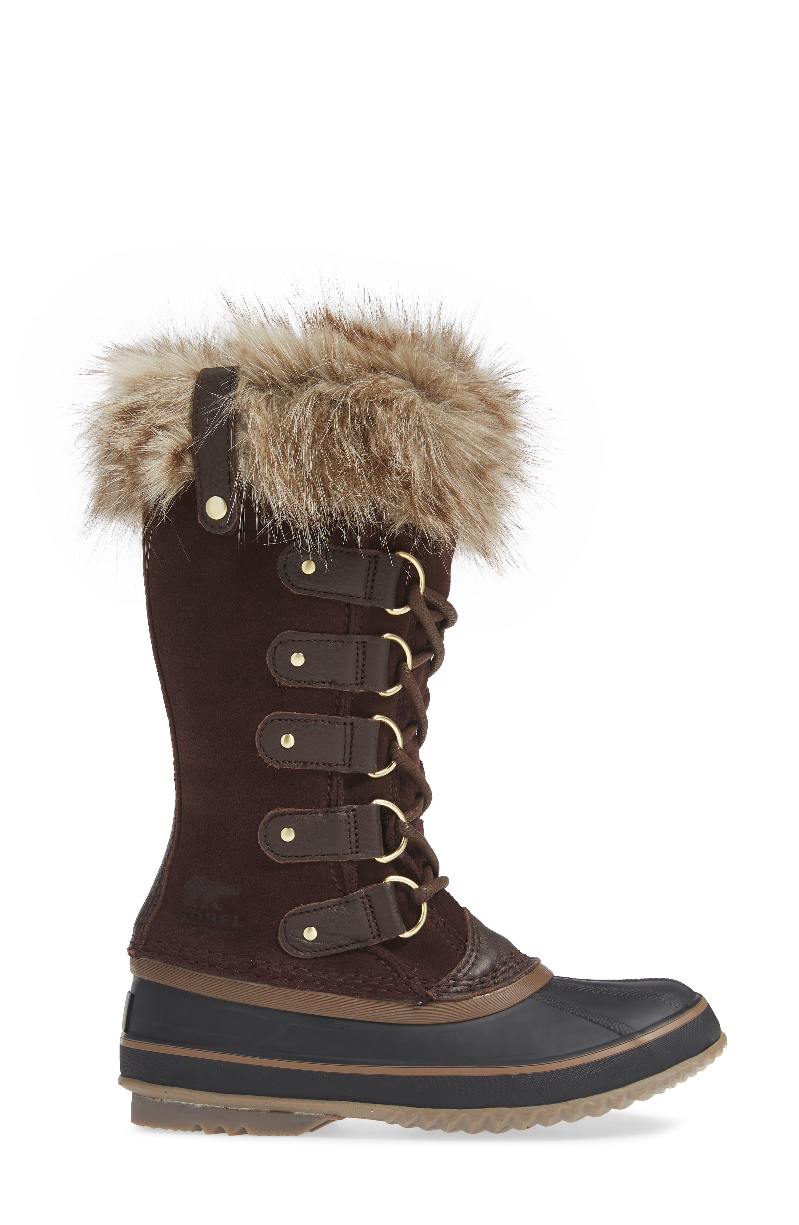 SOREL, 'Joan of Arctic' Waterproof Snow Boot, Alternate thumbnail 3, color, 201