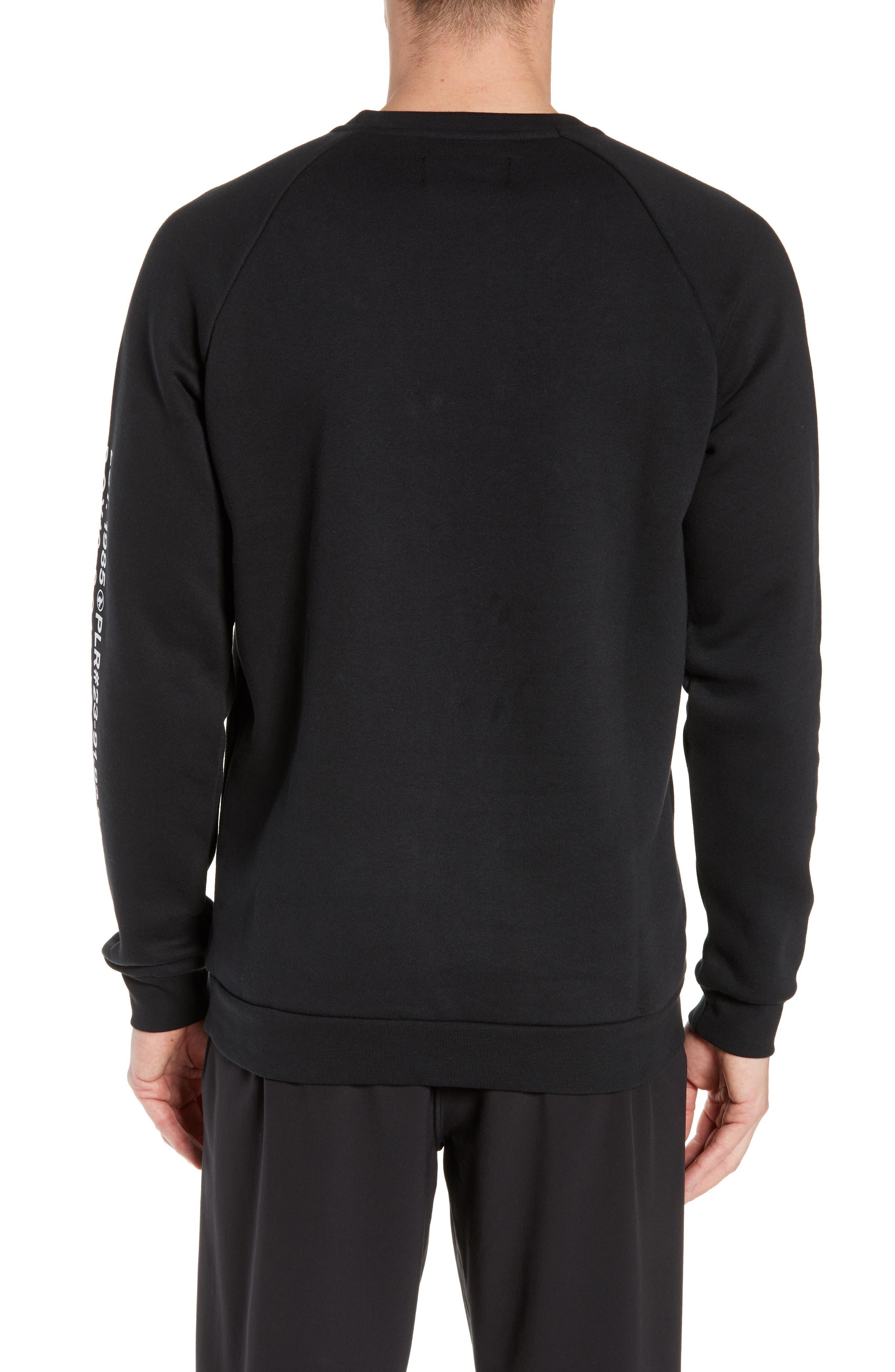 JORDAN, JSW Greatest Stats Graphic Sweatshirt, Alternate thumbnail 2, color, BLACK