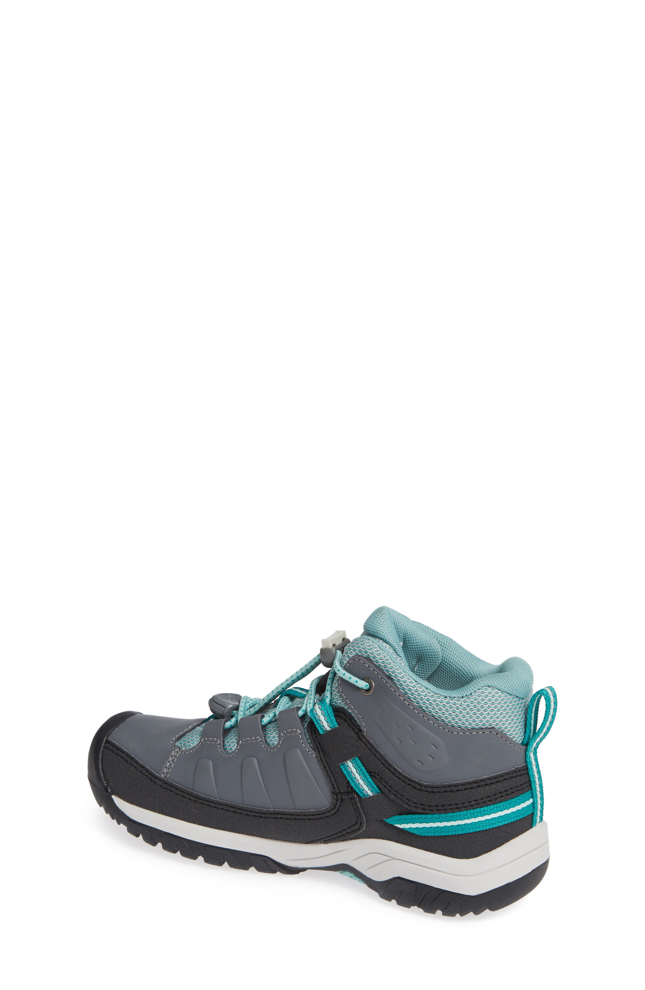 KEEN, Targhee Mid Waterproof Hiking Boot, Alternate thumbnail 2, color, GREY/ WASABI