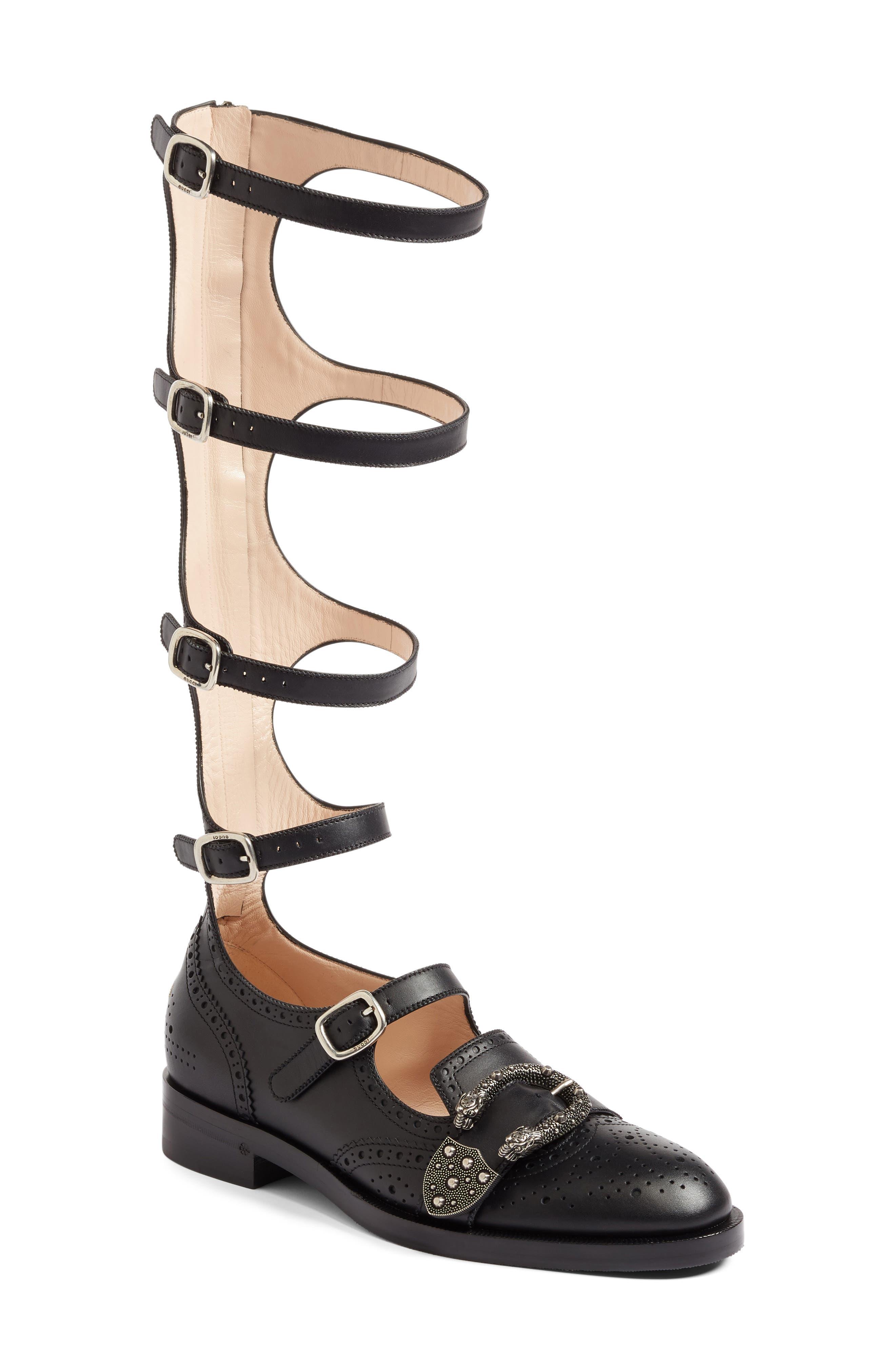 GUCCI Gladiator Loafer, Main, color, 001