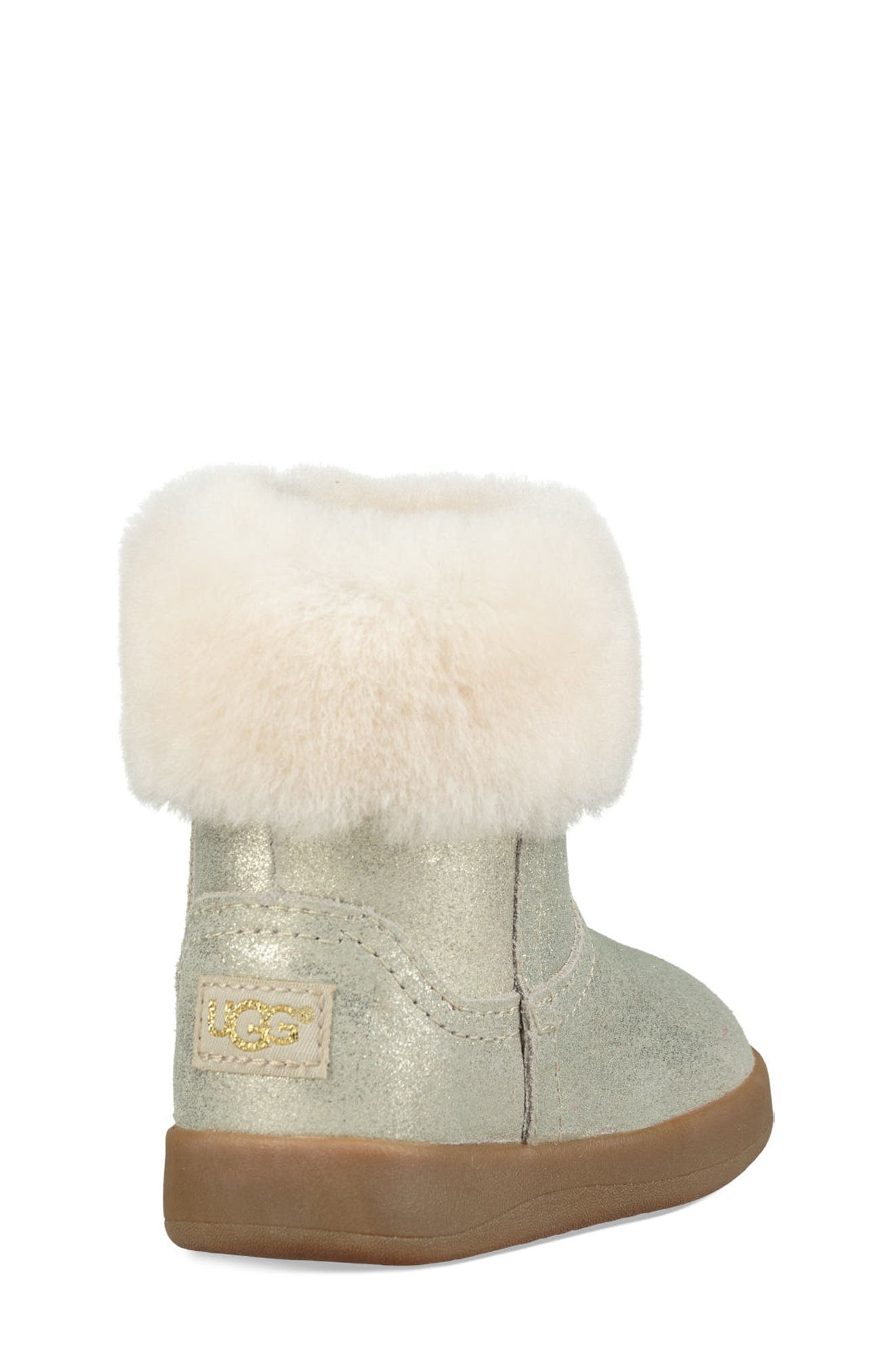 UGG<SUP>®</SUP>, Jorie II Metallic Genuine Shearling Boot, Alternate thumbnail 2, color, GOLD