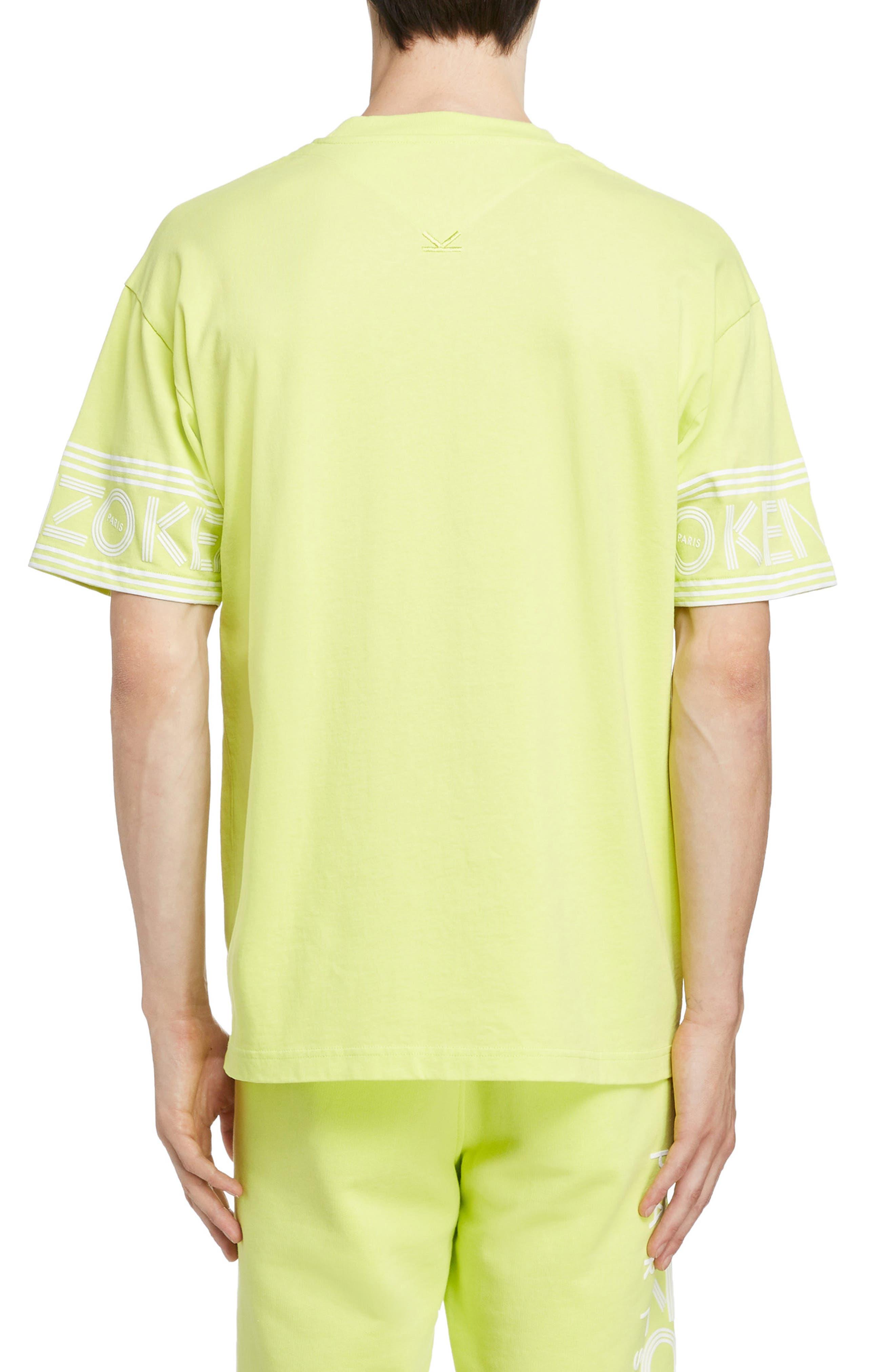 KENZO, Sport Logo T-Shirt, Alternate thumbnail 2, color, LEMON