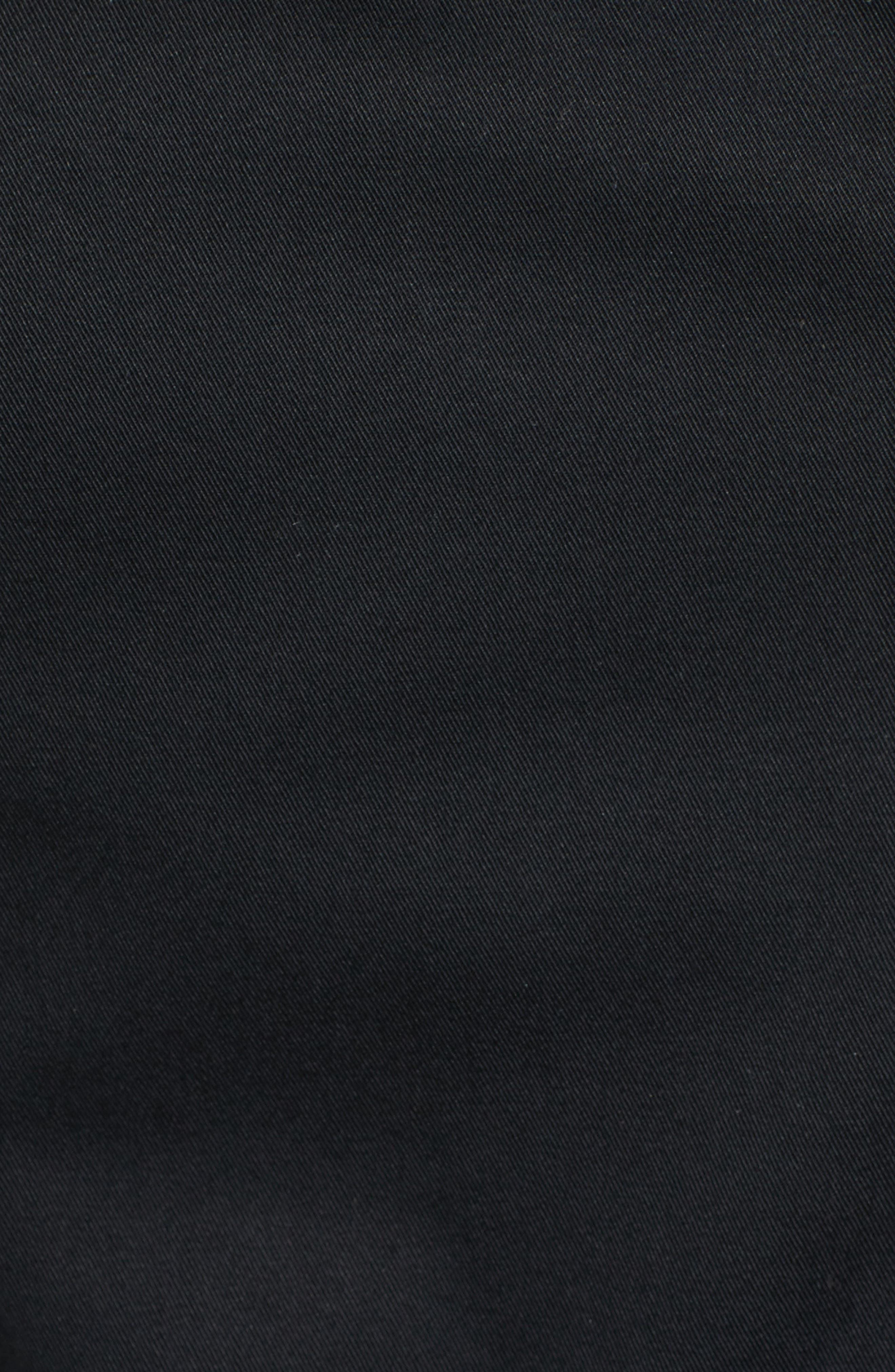 MACKAGE, Estela Belted Long Trench Coat, Alternate thumbnail 5, color, 001