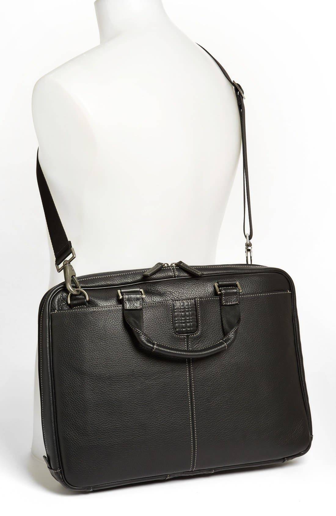 BOCONI, 'Tyler' Briefcase, Alternate thumbnail 4, color, BLACK