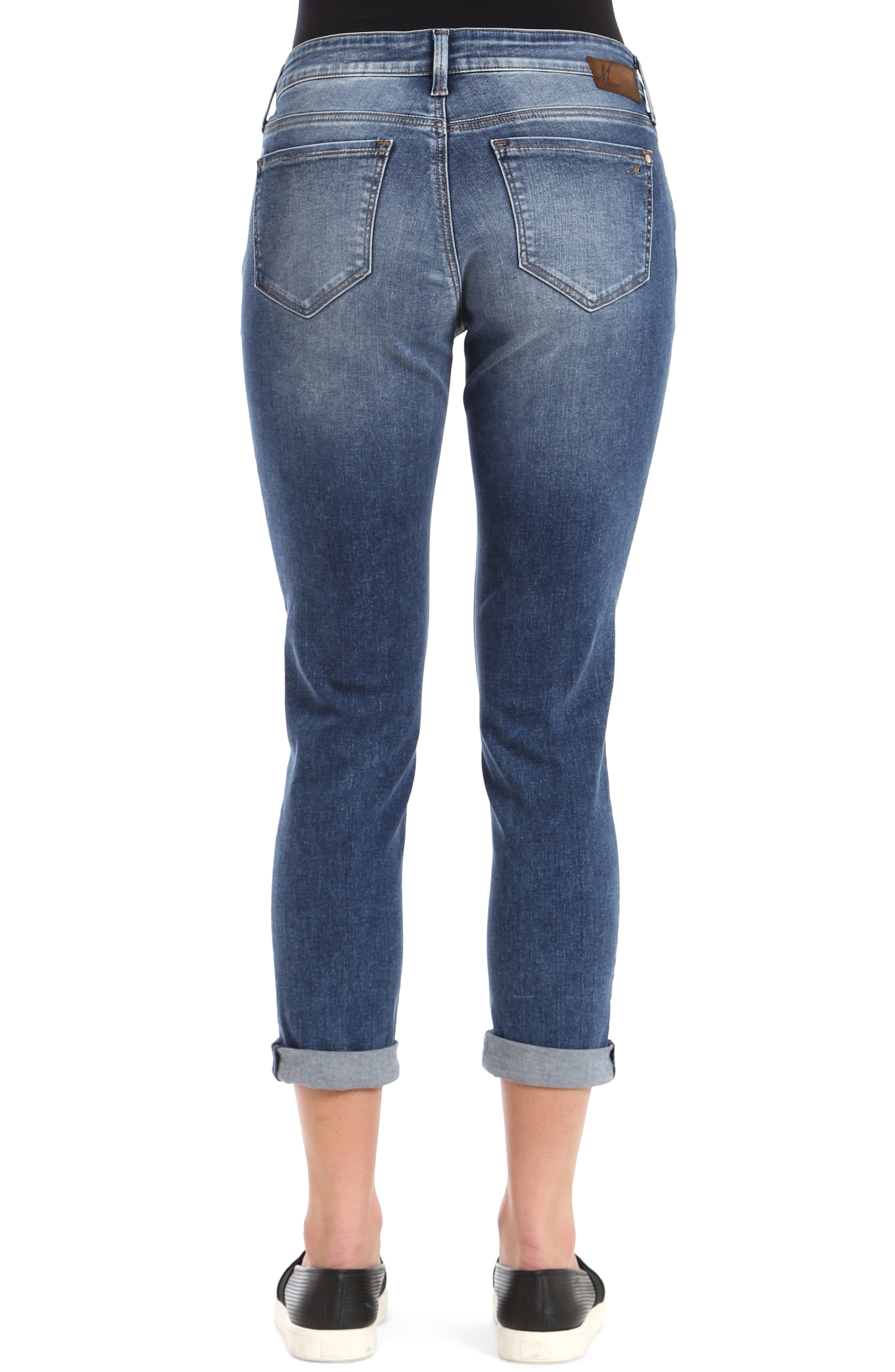 MAVI JEANS, Ada Slim Jeans, Alternate thumbnail 2, color, MID INDIGO TRIBECA