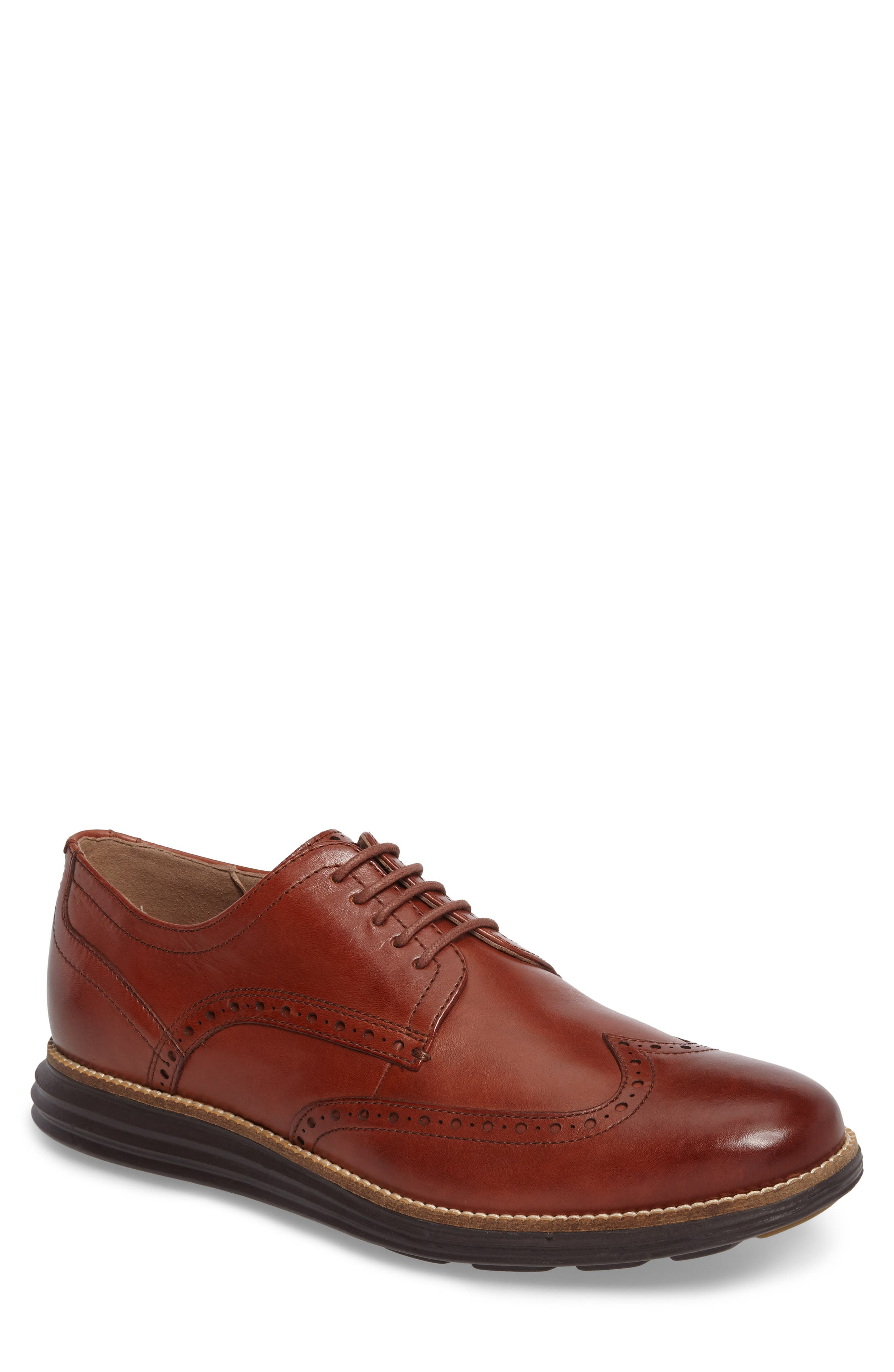COLE HAAN, Original Grand Wingtip, Main thumbnail 1, color, WOODBURY/ JAVA LEATHER