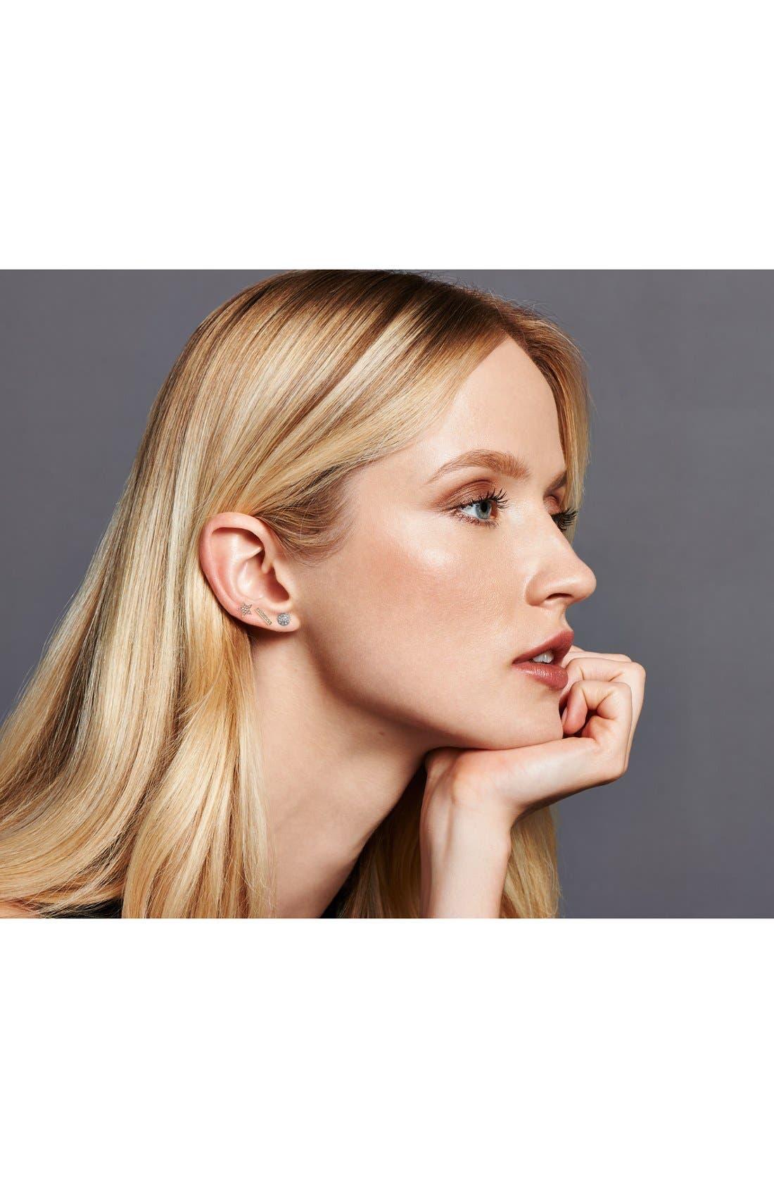 DANA REBECCA DESIGNS, 'Lauren Joy' Diamond Disc Stud Earrings, Alternate thumbnail 10, color, WHITE GOLD
