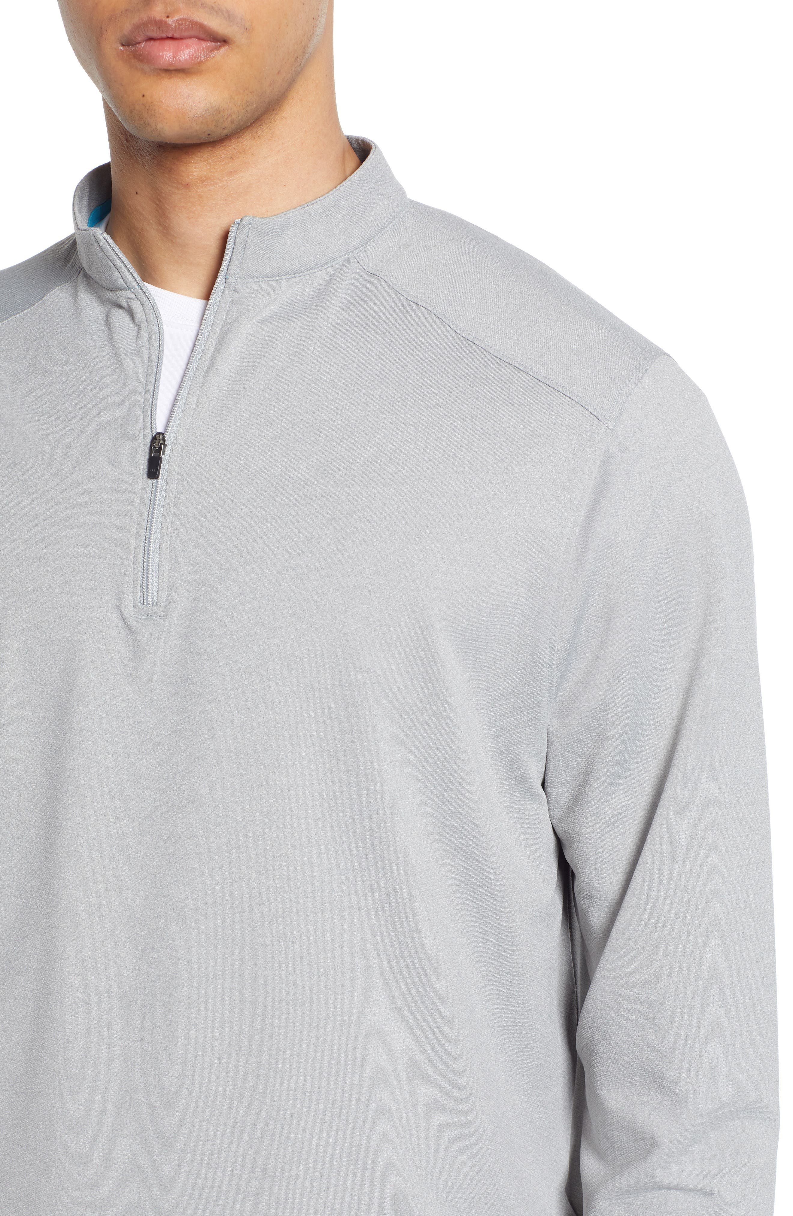 DEVEREUX, Lay-Low Half Zip Pullover, Alternate thumbnail 4, color, ASPHALT